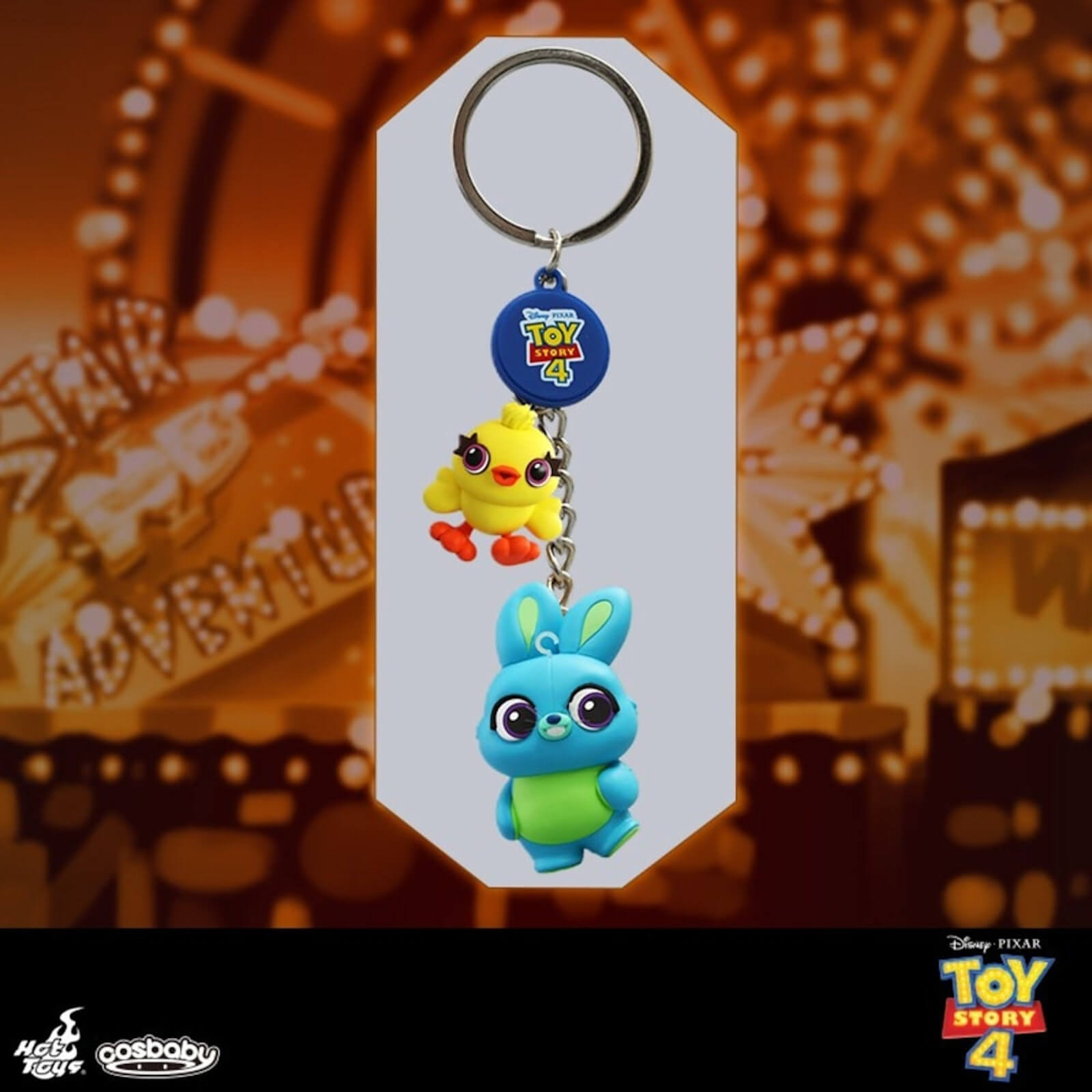 Image of Hot Toys Cosbaby Toy Story 4 Ducky & Bunny Keychain