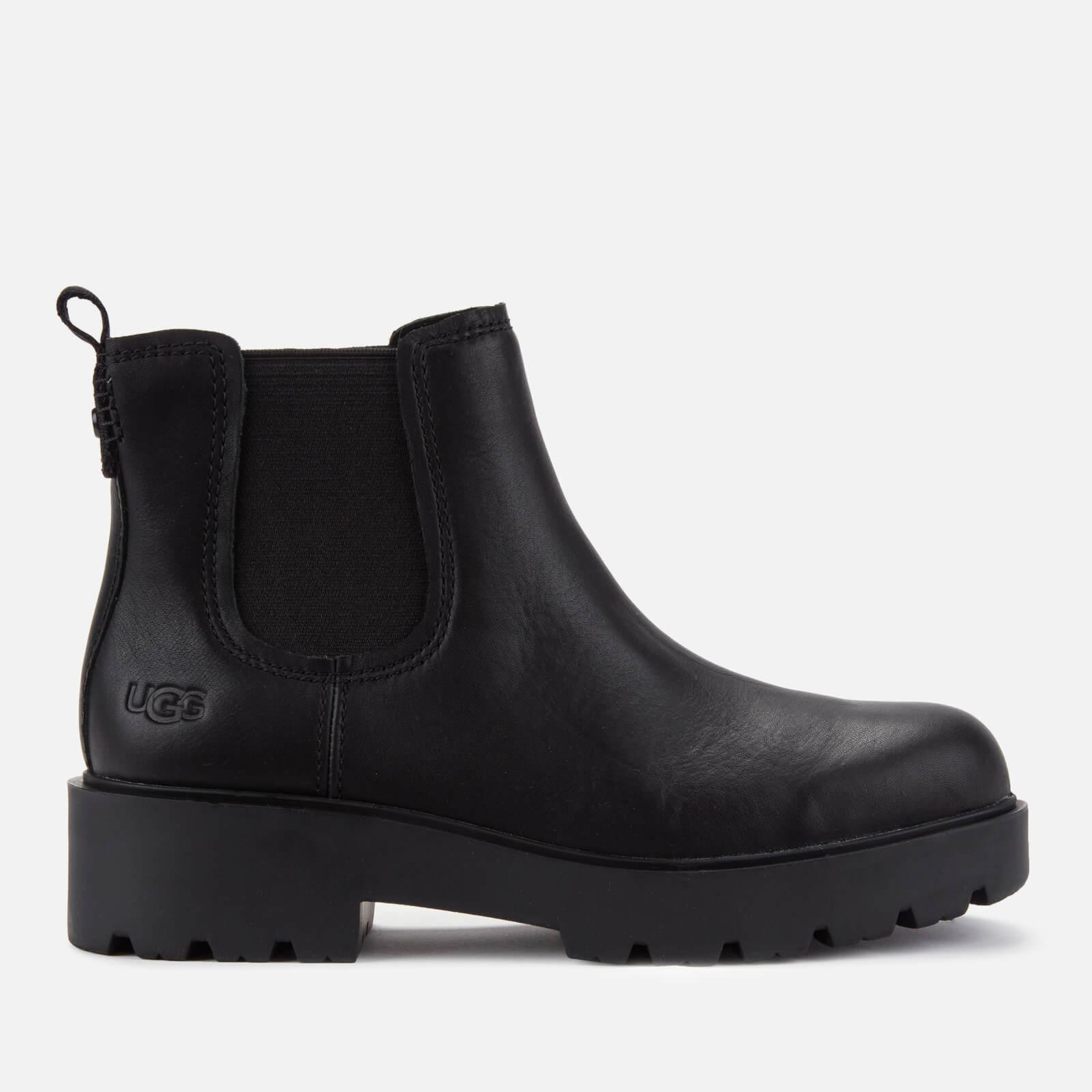 UGG Women's Markstrum Waterproof Leather Chelsea Boots - Black - UK 4