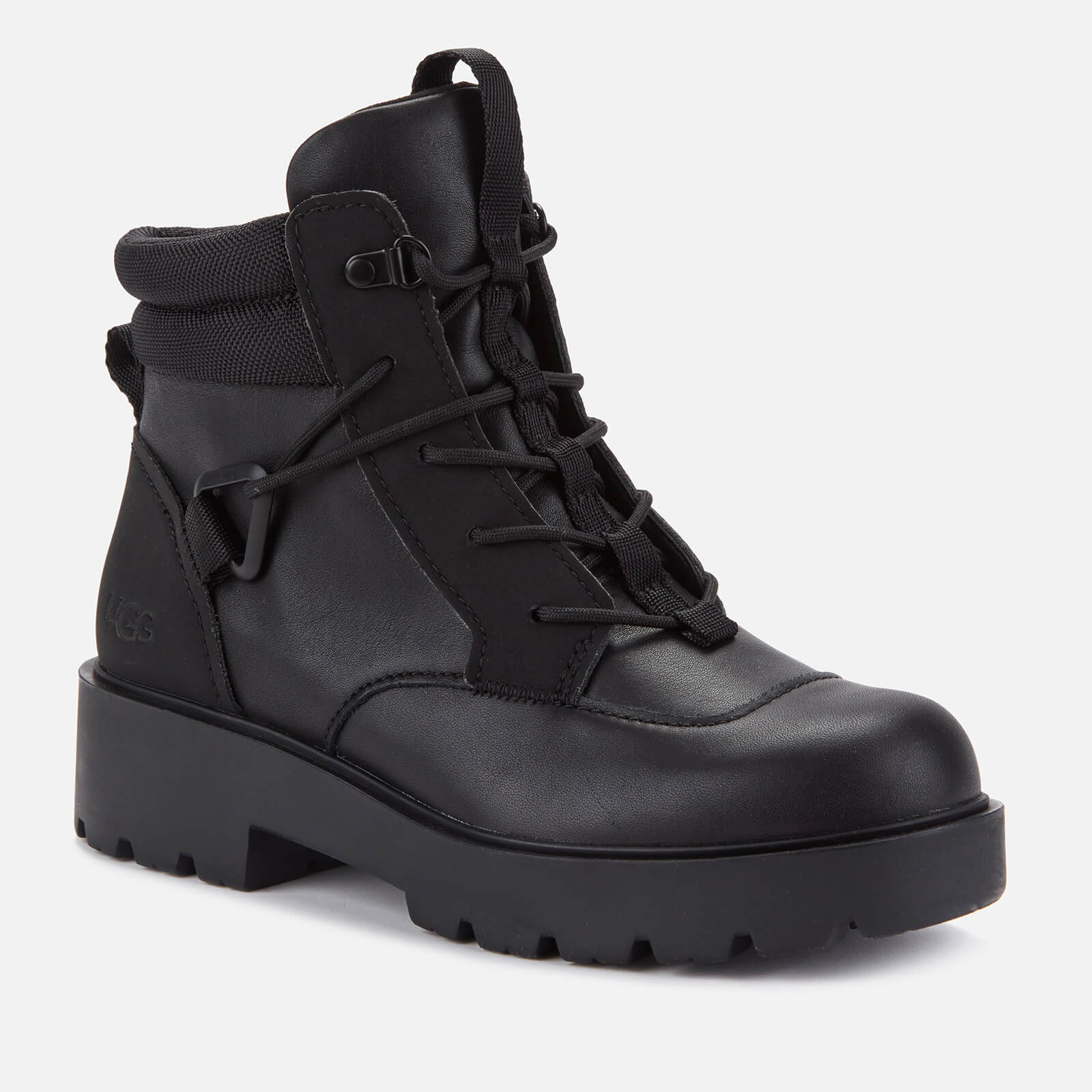 Ugg Women's Tioga Waterproof Leather Hiking Style Boots - Black - Uk 3