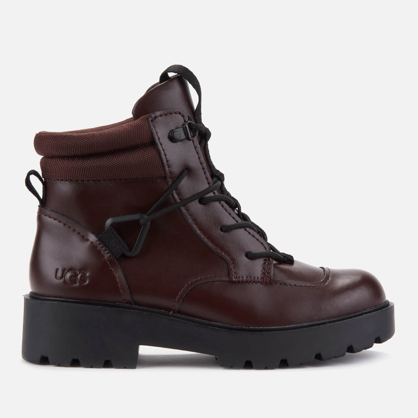 Ugg Women's Tioga Waterproof Leather Hiking Style Boots - Burgundy - Uk 3