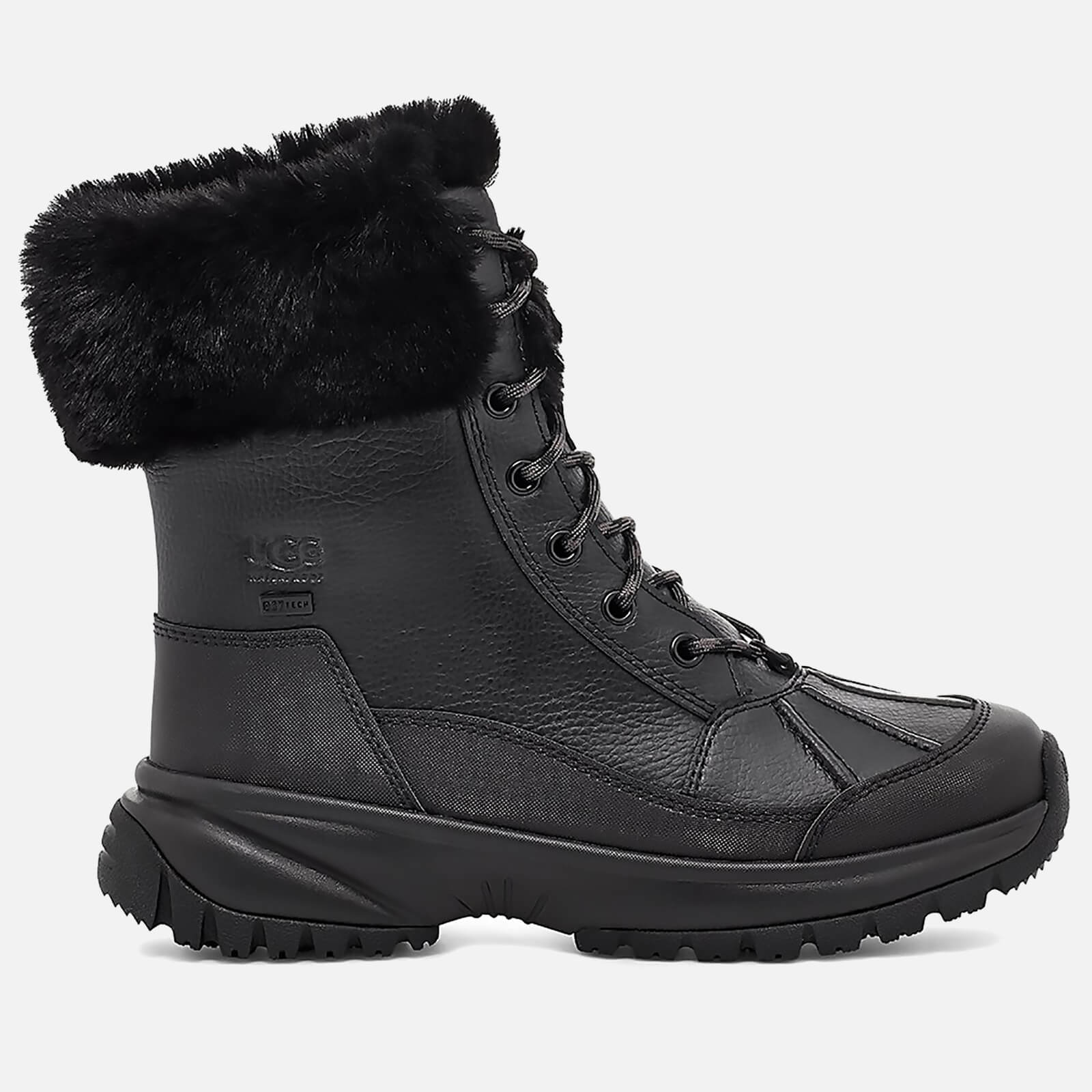 Ugg Women's Yose Fluff Waterproof Leather Snow Boots - Black - Uk 5