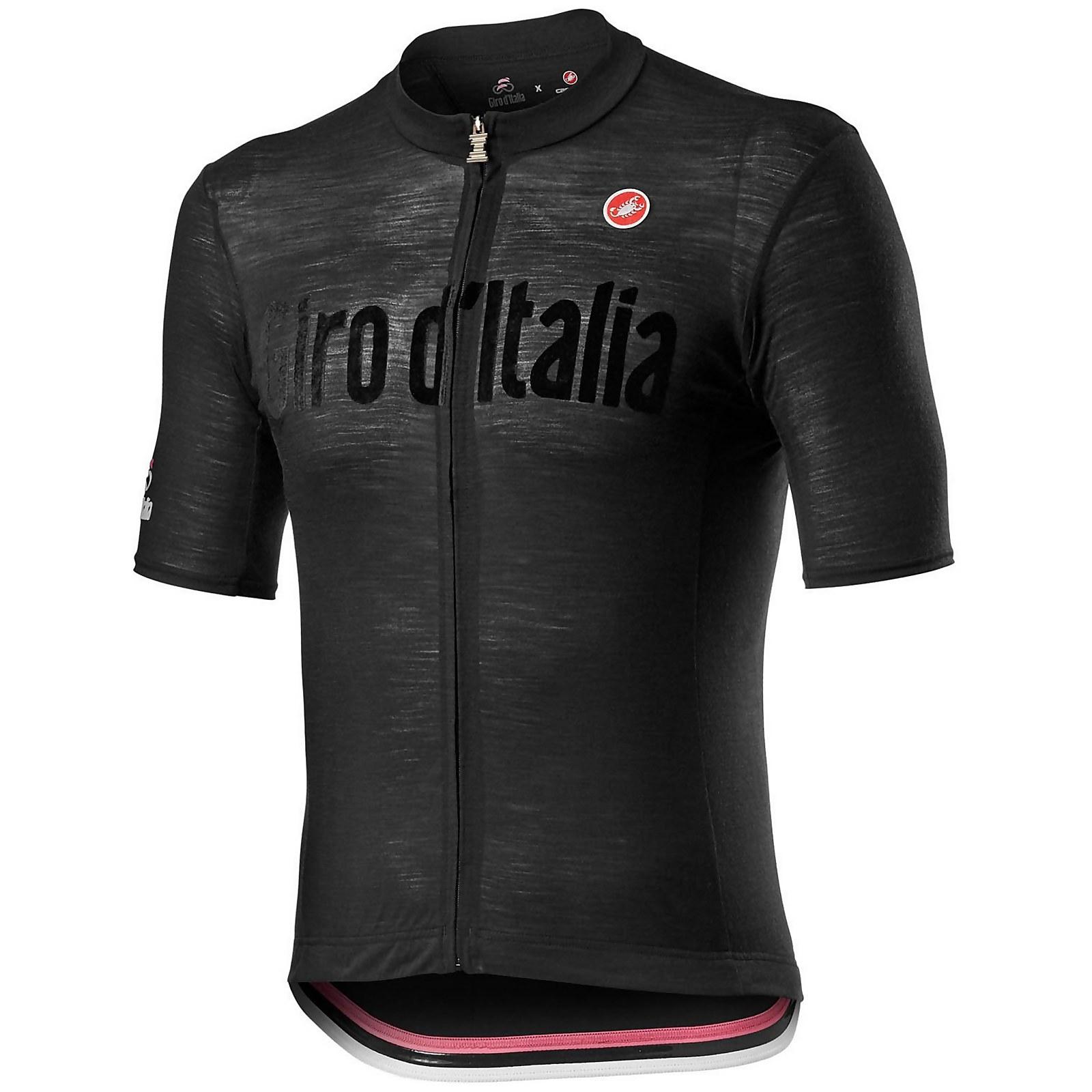 Castelli Giro D'Italia Heritage Maglia Nera Jersey - Nero Vintage - M