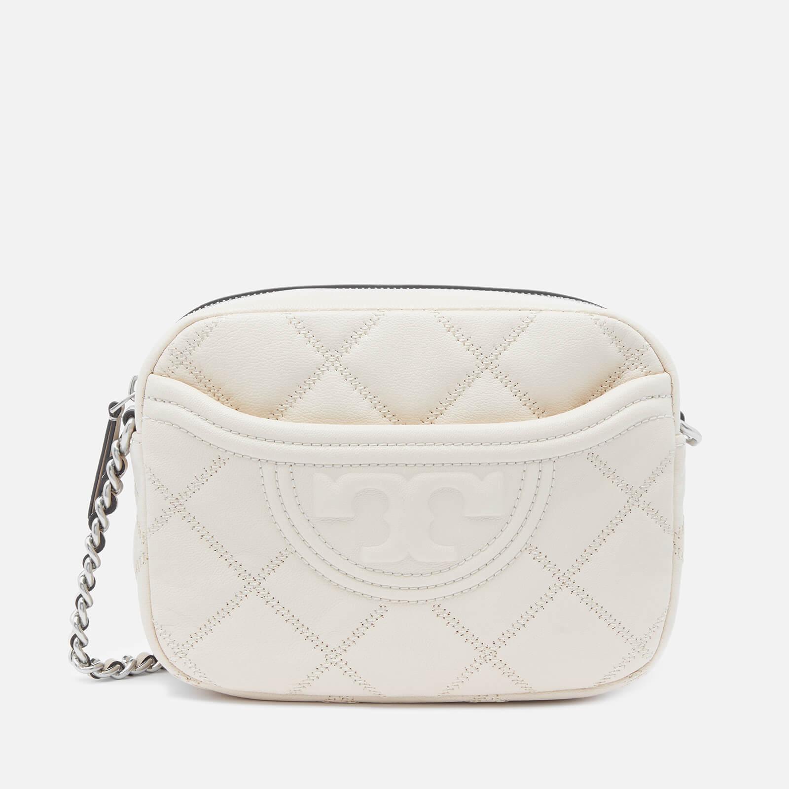 Tory Burch Women's Fleming Soft Textured Camera Bag - New Cream