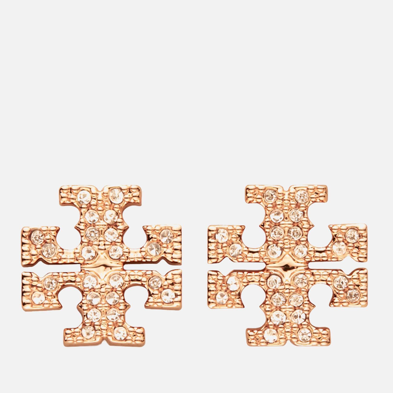 Tory Burch Women's Kira Pave Stud Earring - Rose Gold/Crystal