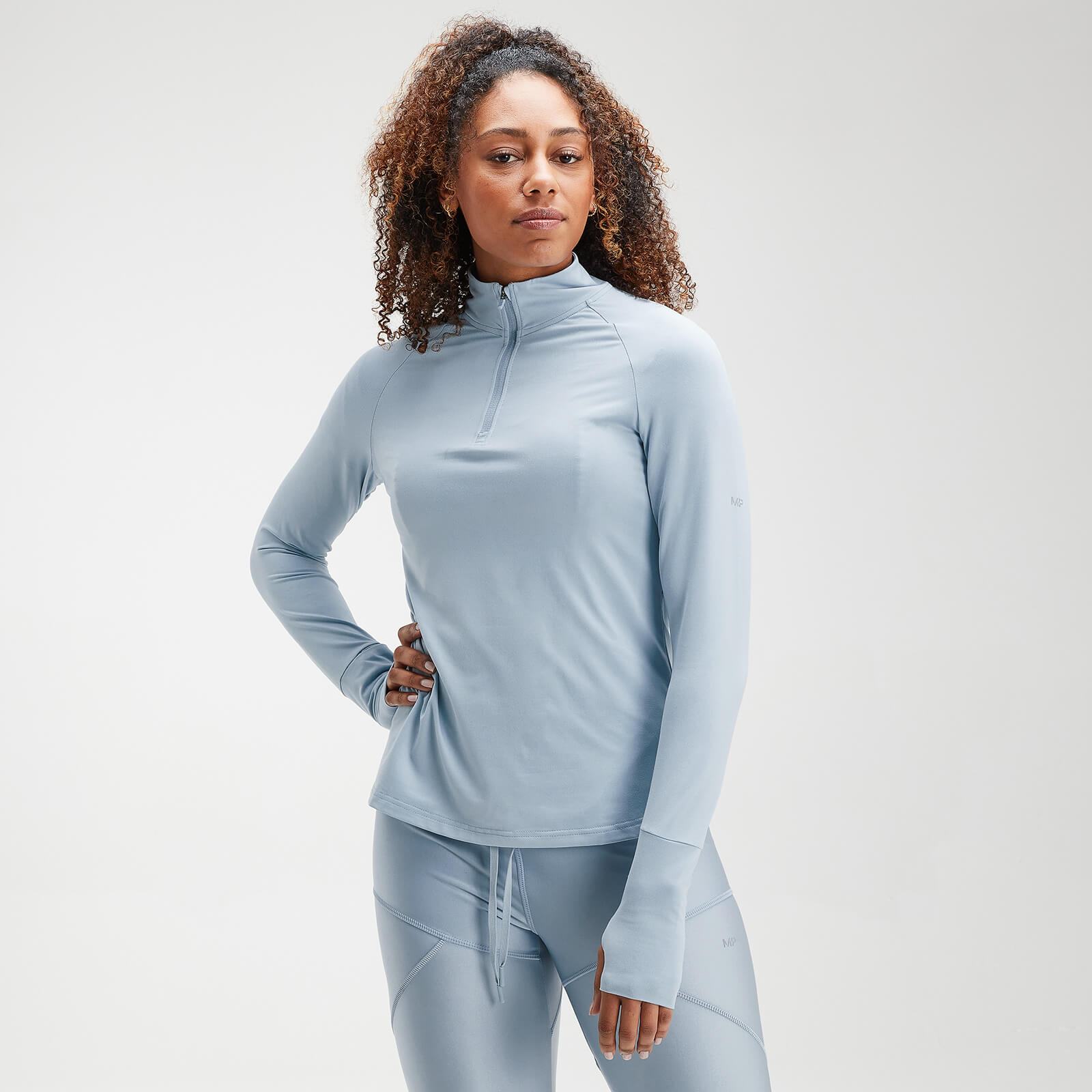 Haut à fermeture éclair ¼ MP Velocity pour femmes – Bleu clair - XXS