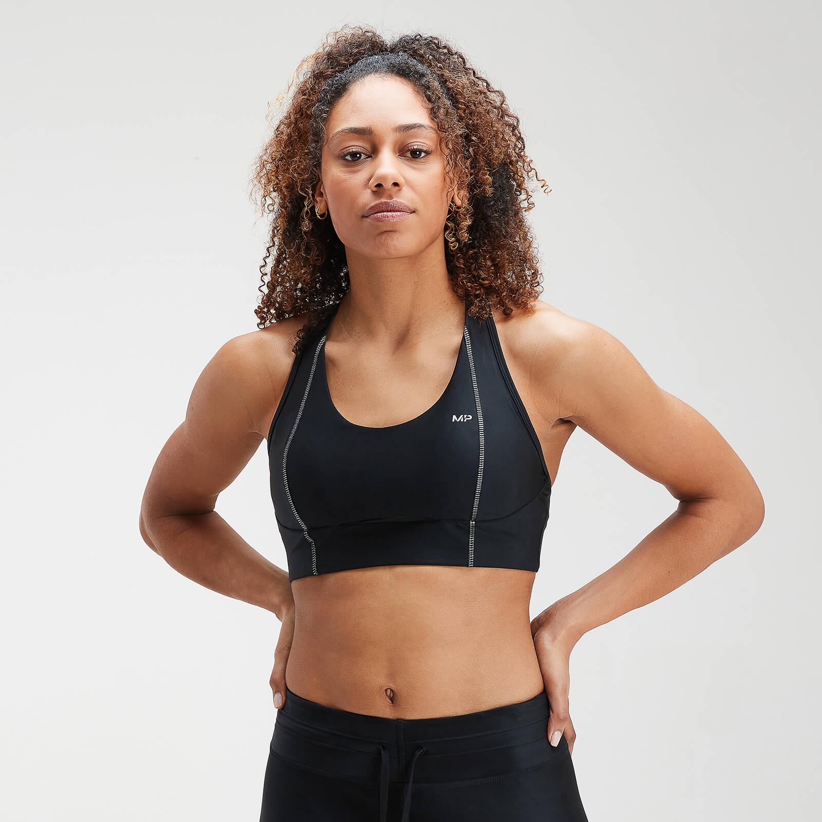 Brassière de sport MP Velocity pour femmes–Noir - XS