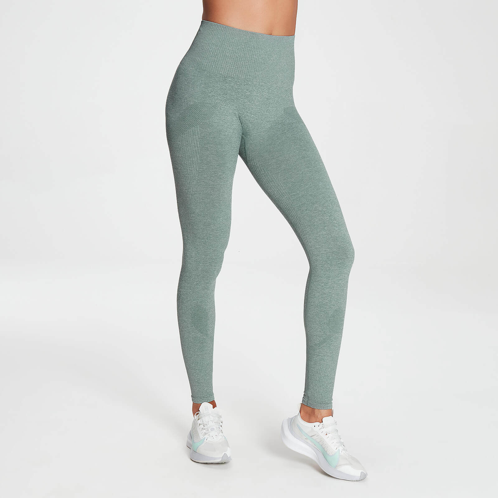 MP Women's Raw Training Seamless Leggings - Washed Green - L