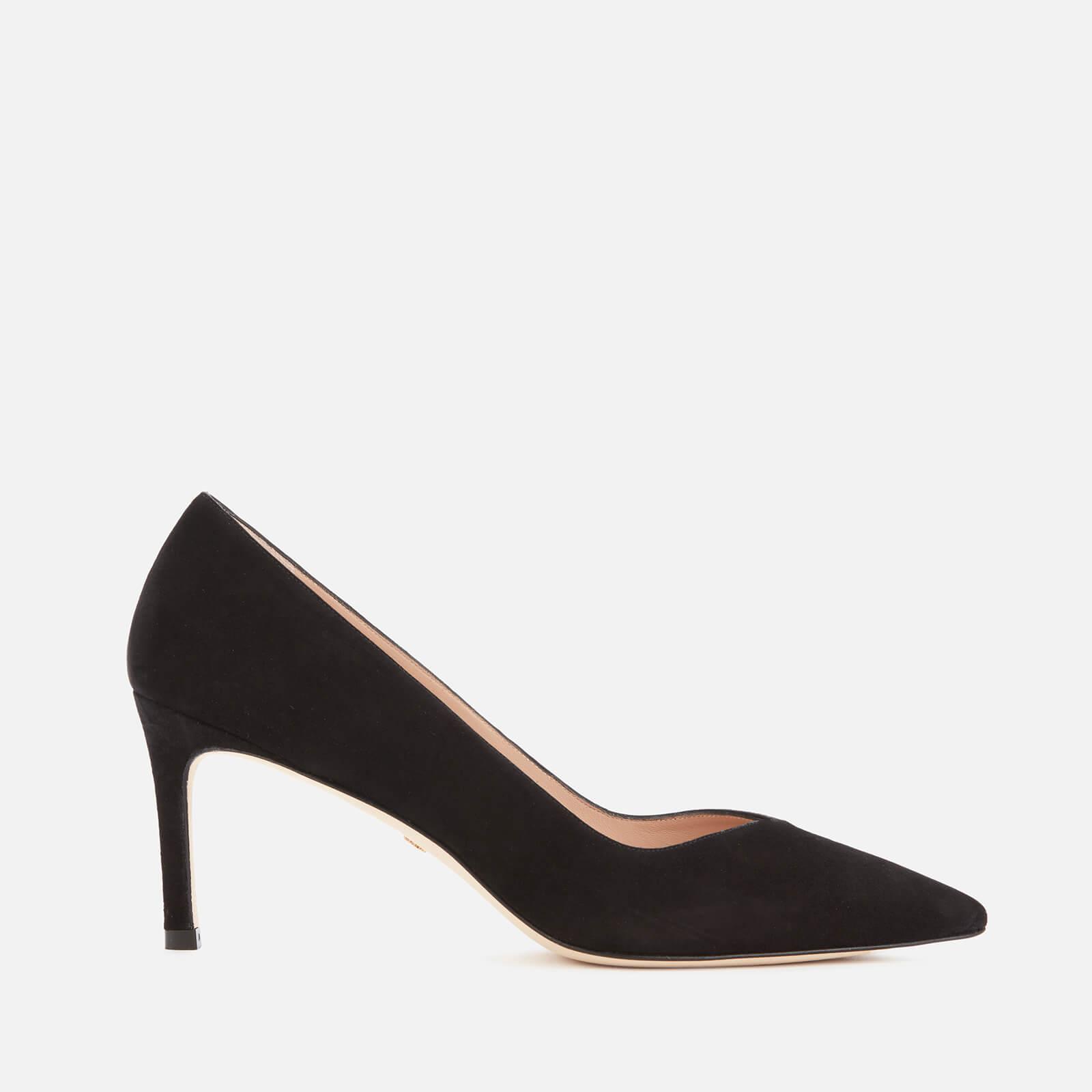 Stuart Weitzman Women's Anny 70 Suede Court Shoes - Black - Uk 5
