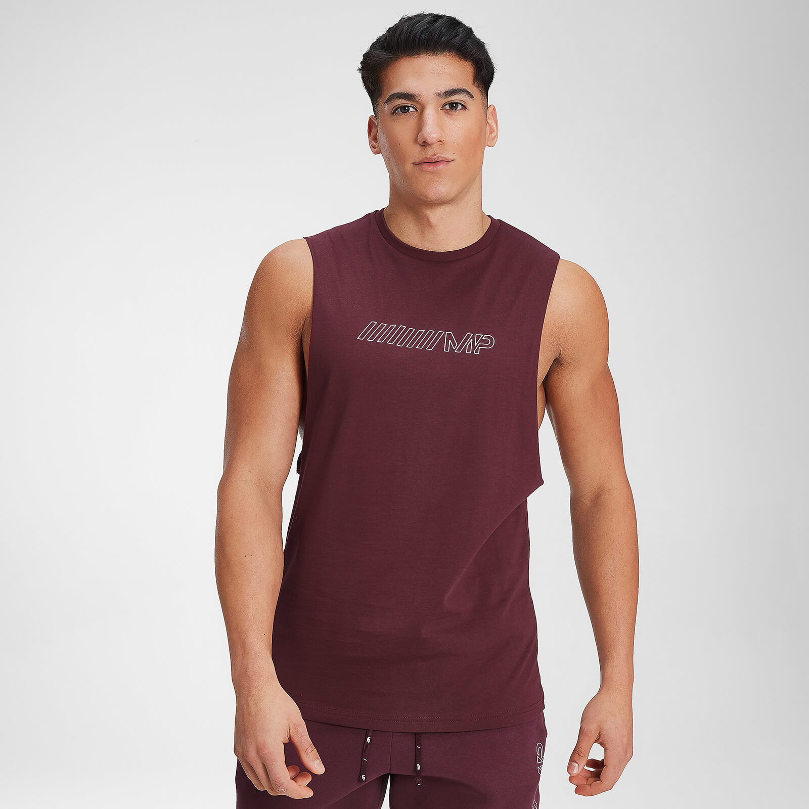 MP Men's Outline Graphic Tank - Washed Oxblood - XL