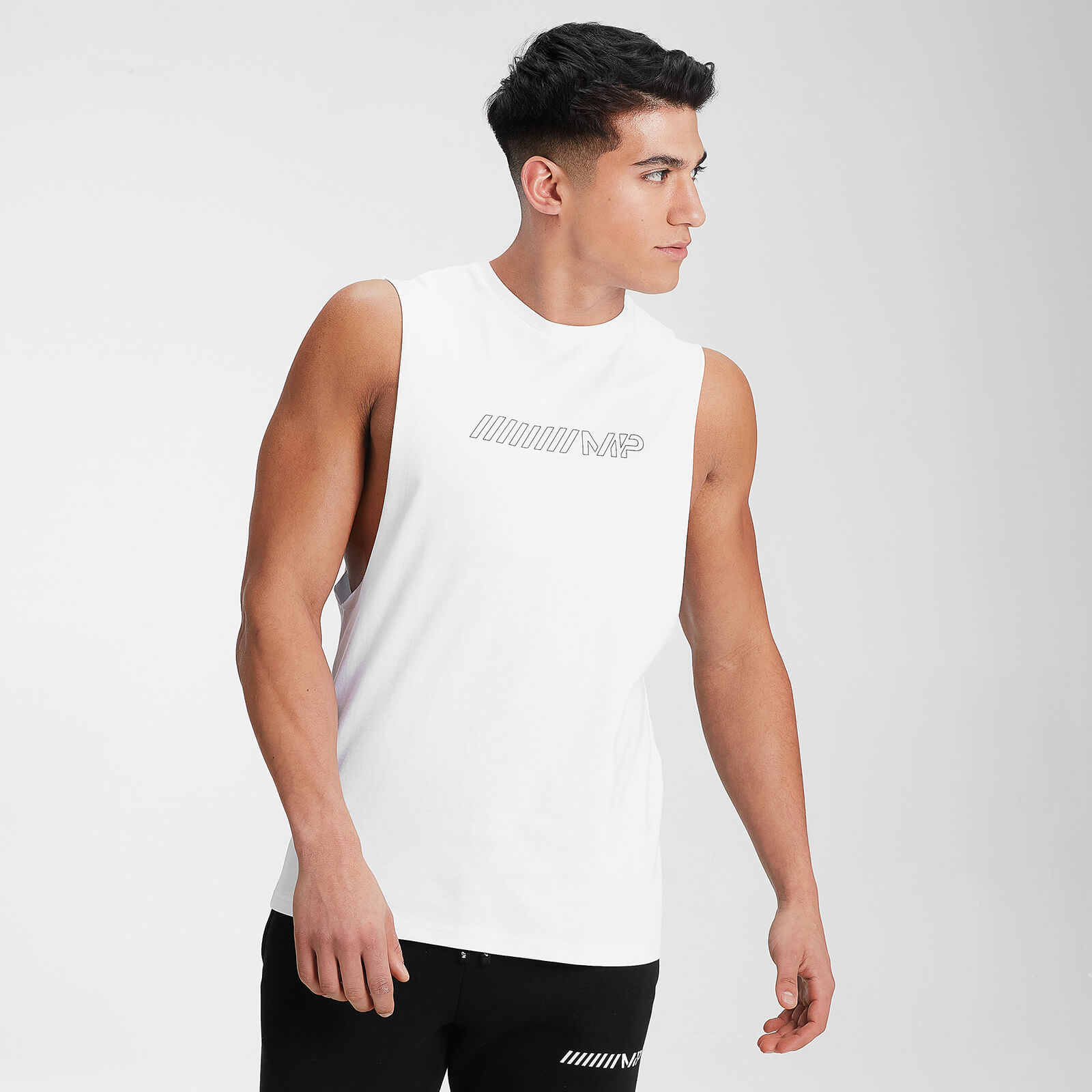 MP Men's Outline Graphic Tank - White - XL