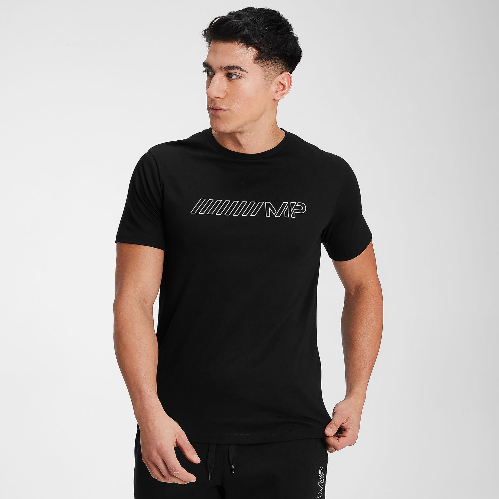 Купить MP Men's Outline Graphic Short Sleeve T-Shirt - Black - S, Myprotein International