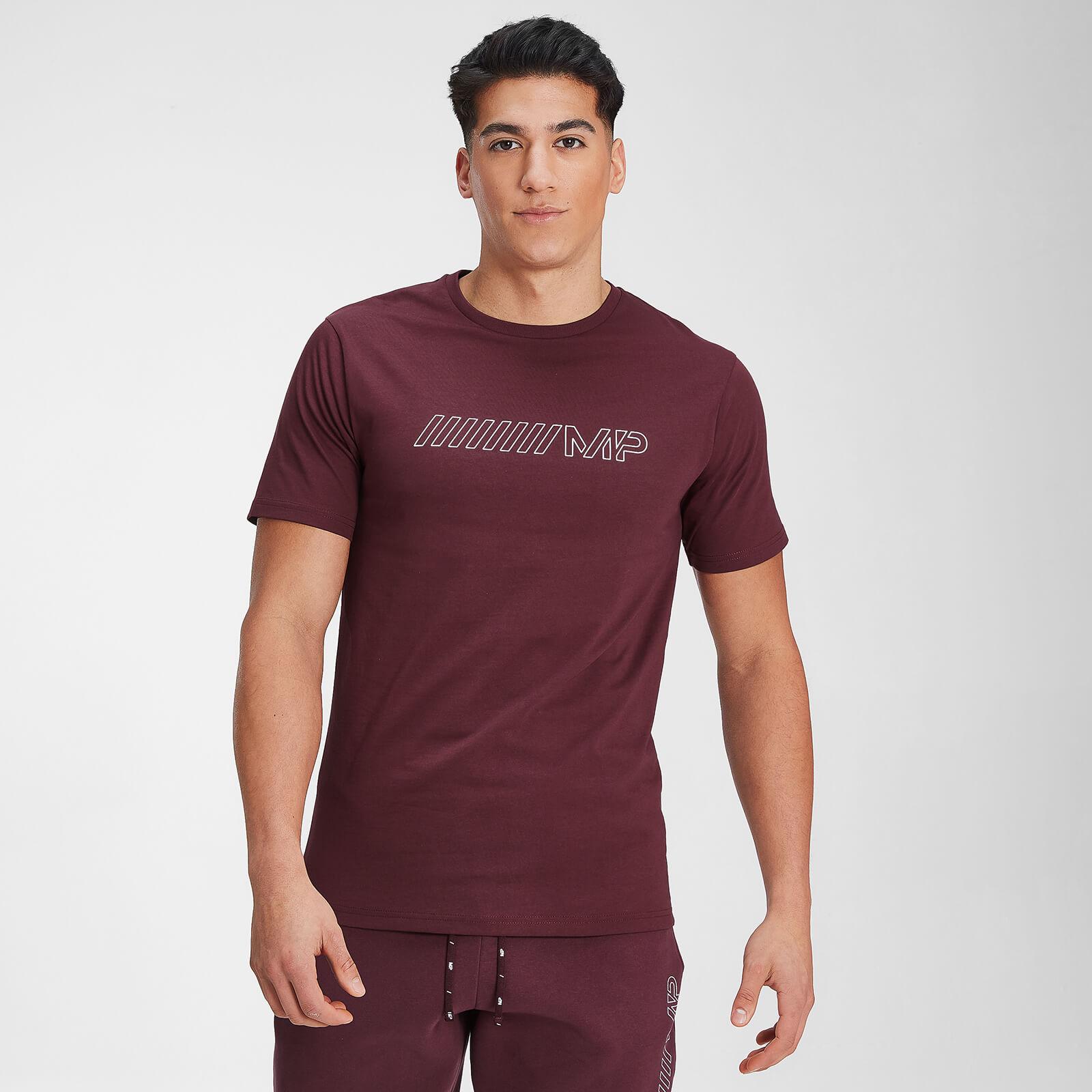 Купить MP Men's Outline Graphic Short Sleeve T-Shirt - Washed Oxblood - XXXL, Myprotein International