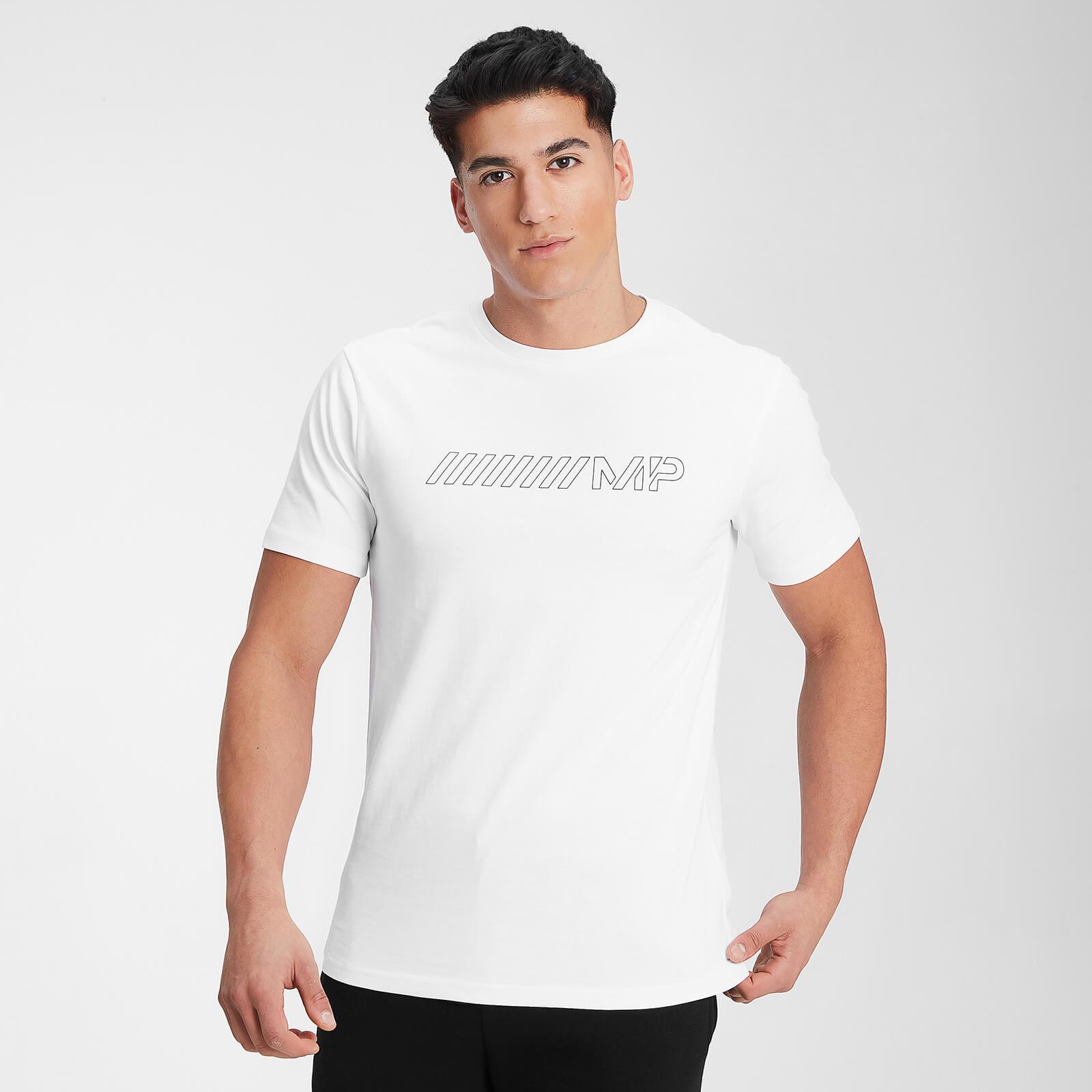 Купить MP Men's Outline Graphic Short Sleeve T-Shirt - White - XXS, Myprotein International