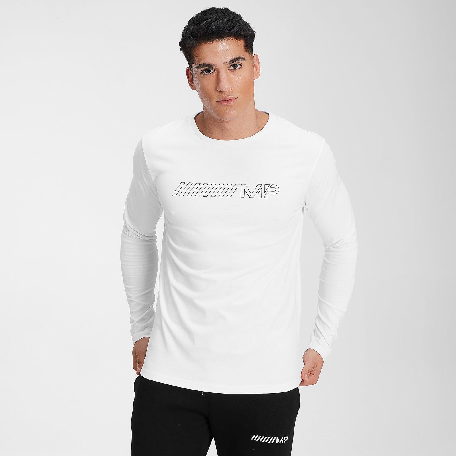 Купить MP Men's Outline Graphic Long Sleeve Top - White - XXS, Myprotein International