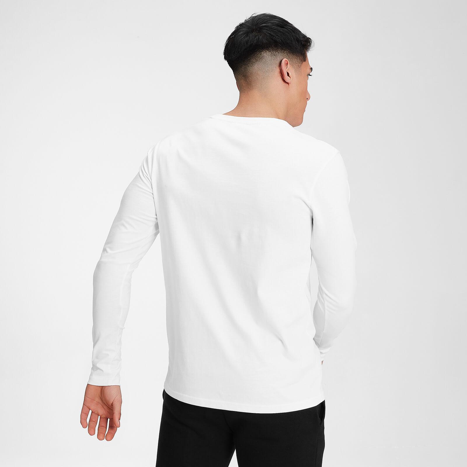 Mp Men's Outline Graphic Long Sleeve Top - White - Xxs