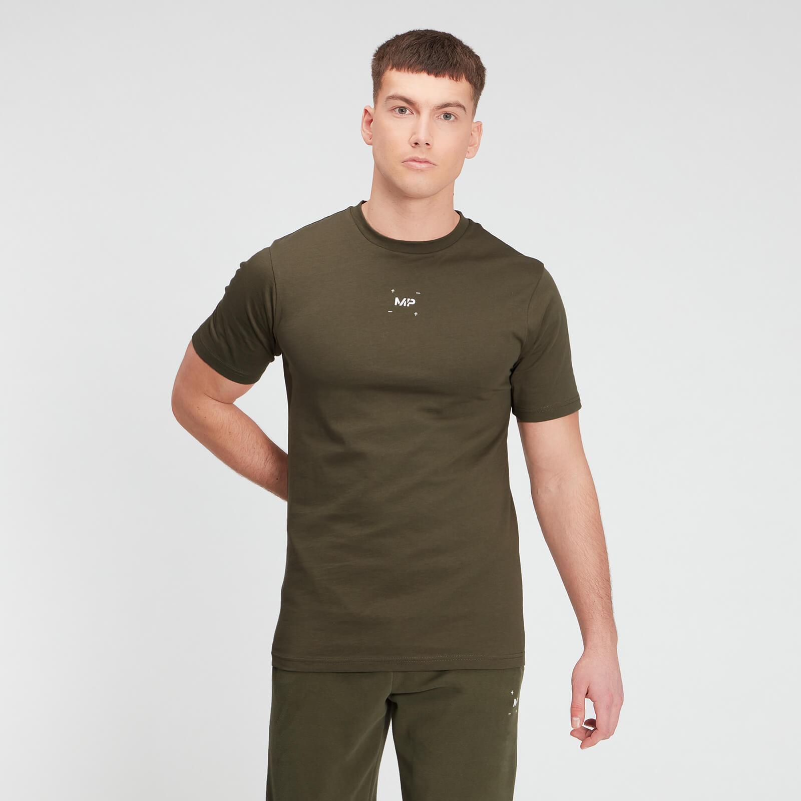 Купить MP Men's Central Graphic Short Sleeve T-Shirt - Dark Olive - XXL, Myprotein International