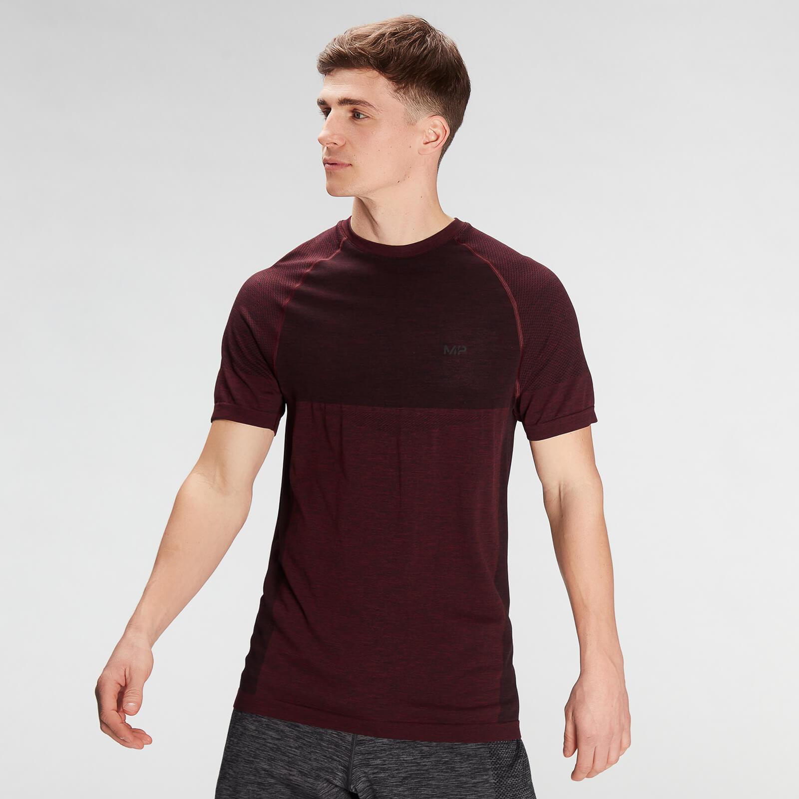 Купить MP Men's Essential Seamless Short Sleeve T-Shirt- Washed Oxblood Marl - XXL, Myprotein International