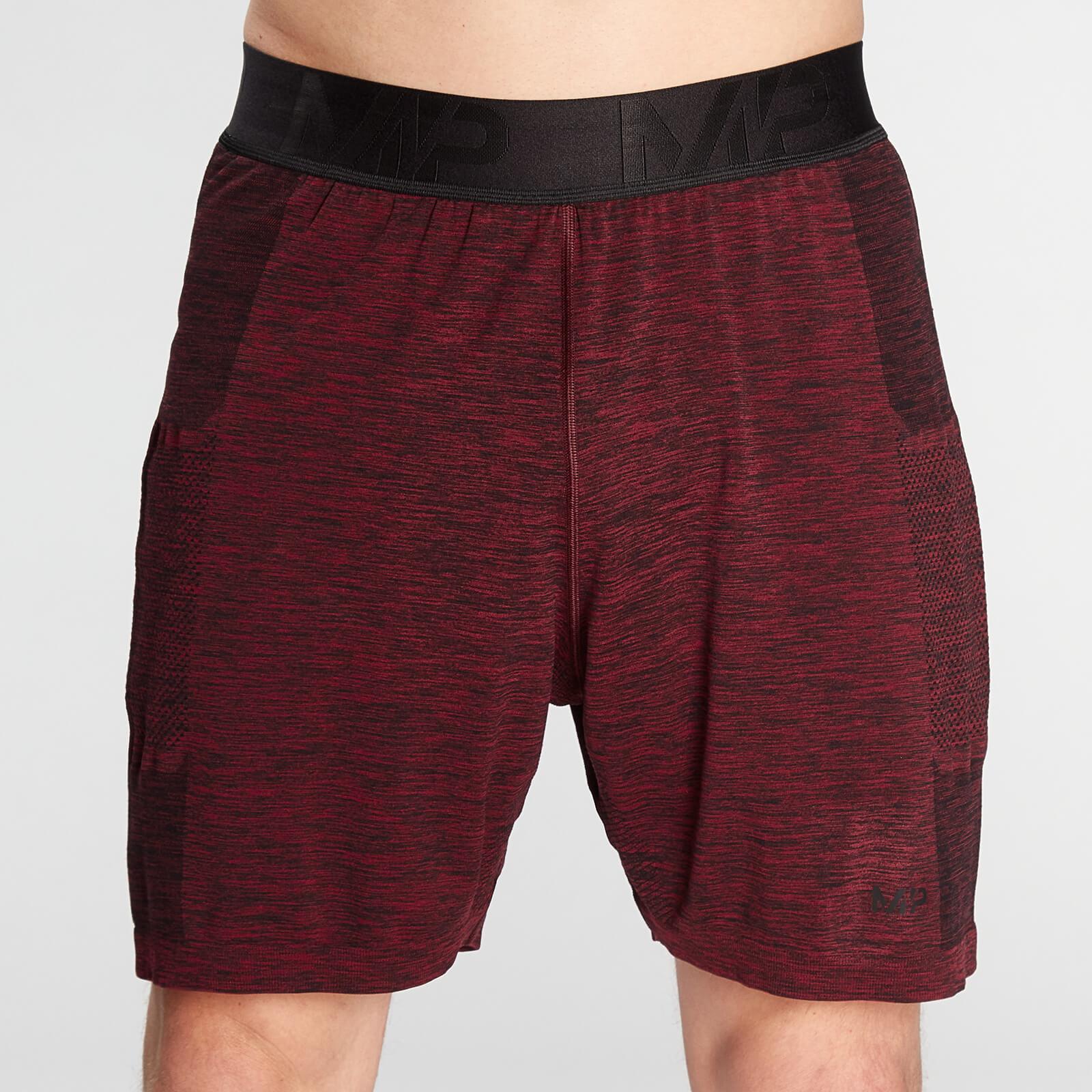 Купить MP Men's Essential Seamless Shorts- Washed Oxblood Marl - S, Myprotein International