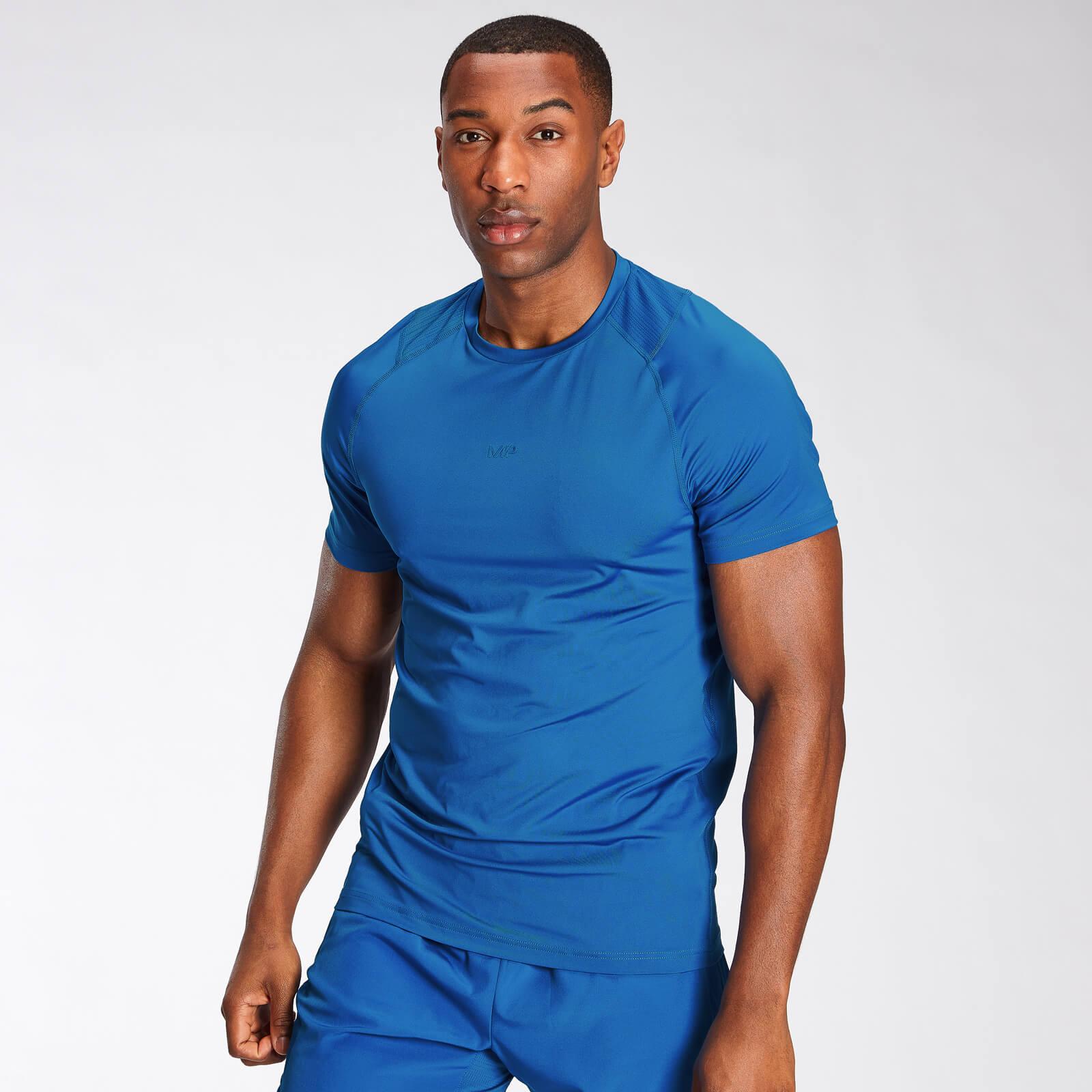 Купить MP Men's Engage Short Sleeve T-Shirt - True Blue - XL, Myprotein International