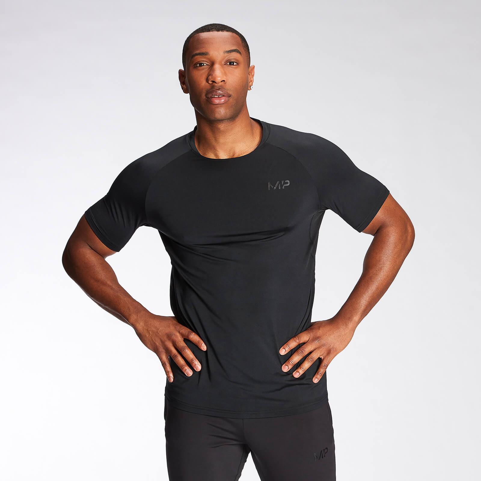 Купить MP Men's Agility Short Sleeve T-Shirt - Black - XXL, Myprotein International