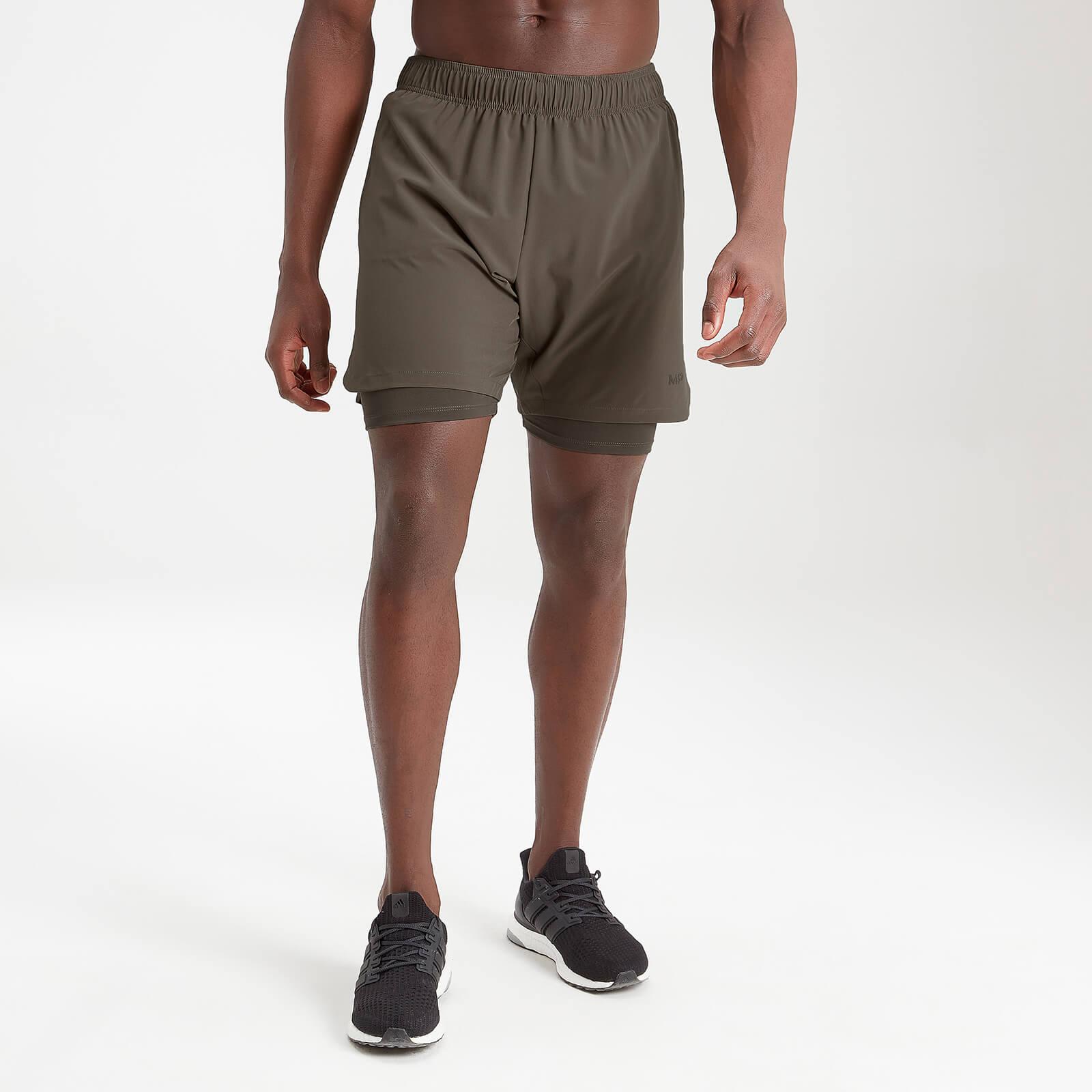 Купить MP Men's Essentials Training 2-In-1 Shorts - Dark Olive - XXS, Myprotein International