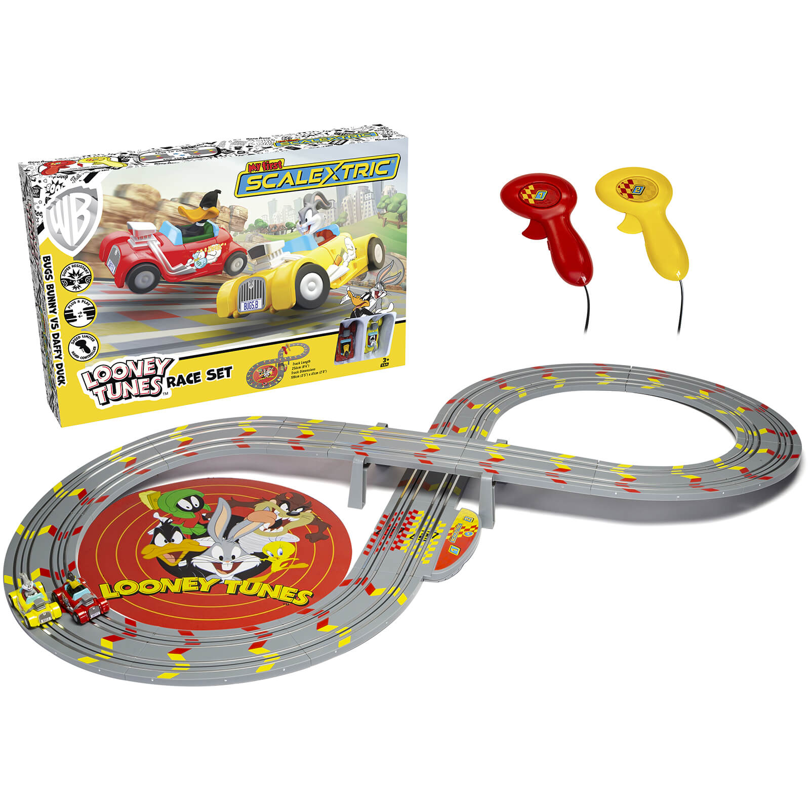 Micro Scalextric My First Looney Tunes with Bugs Bunny vs Daffy Duck Battery Powered Race Set