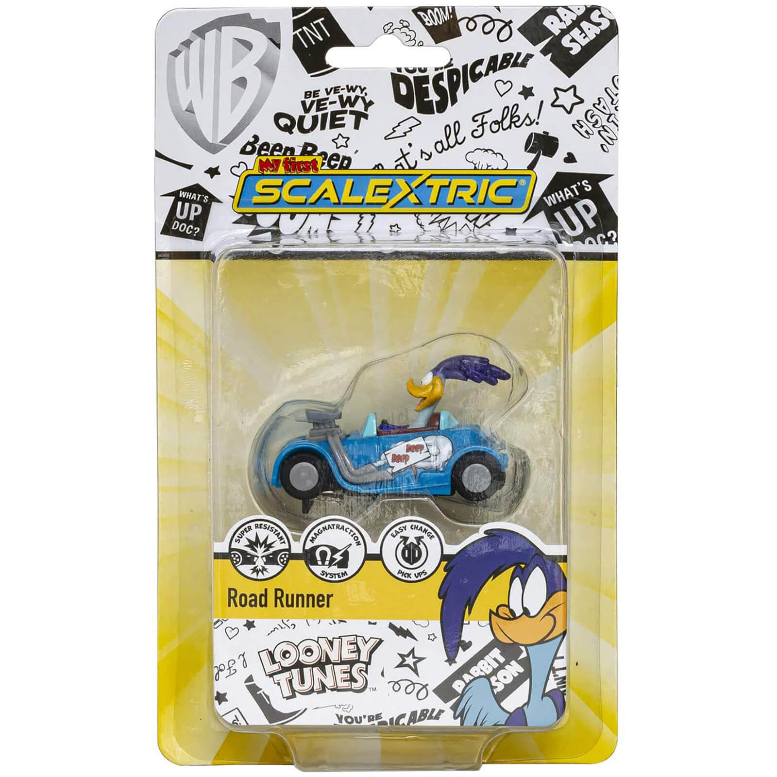 Micro Scalextric Looney Tunes Road Runner Car   Scale 1:64