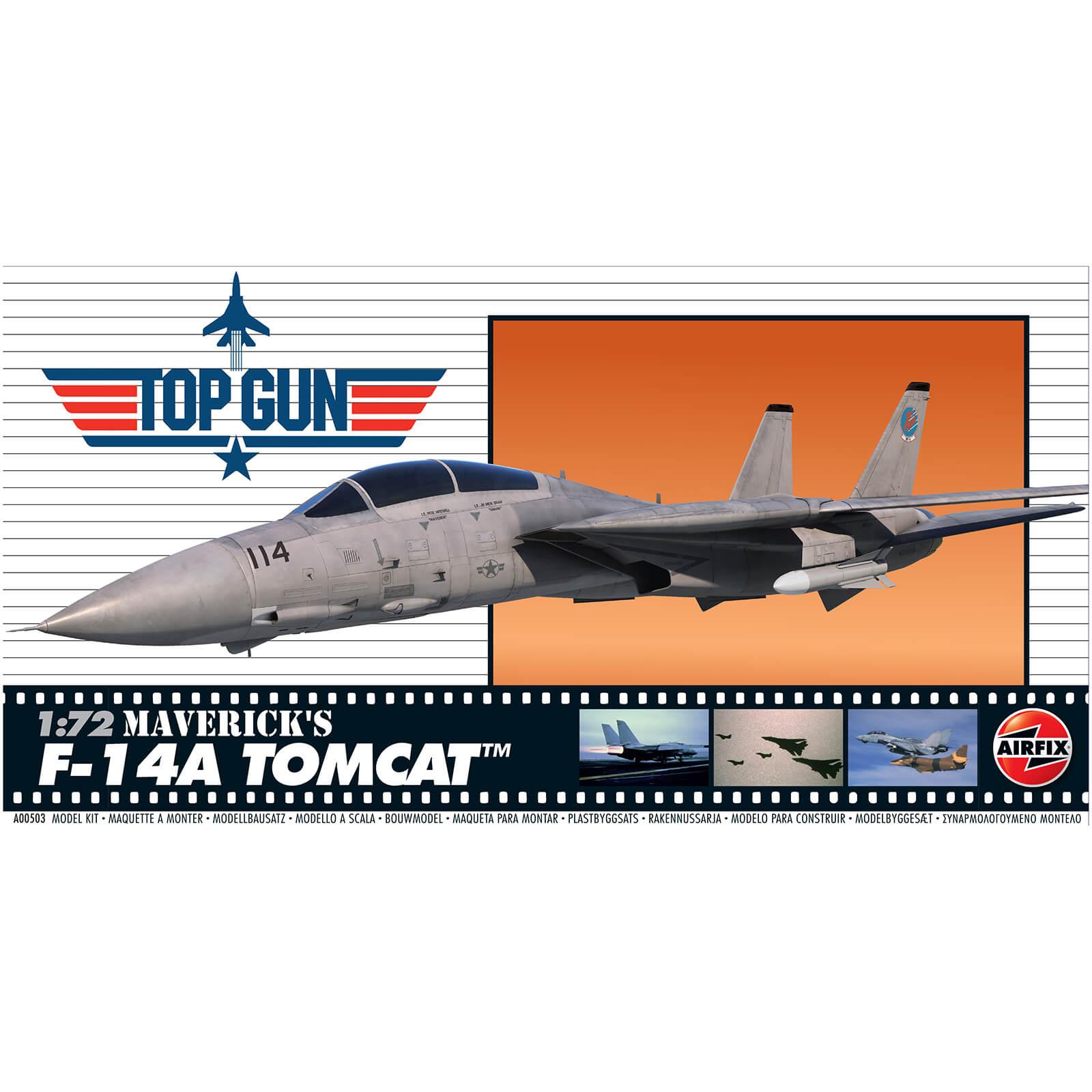 Top Gun Mavericks F-14A Tomcat Plastic Model Kit - Scale 1:72