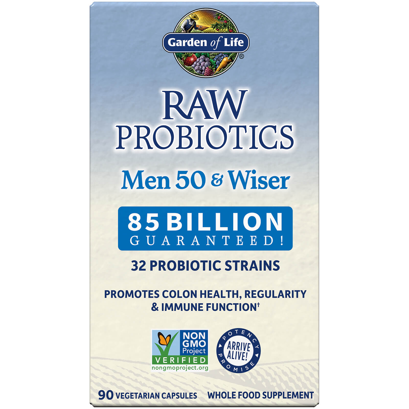 Garden of Life RAW Microbiomes Men 50+ and Wiser - Cooler - 90 Capsules