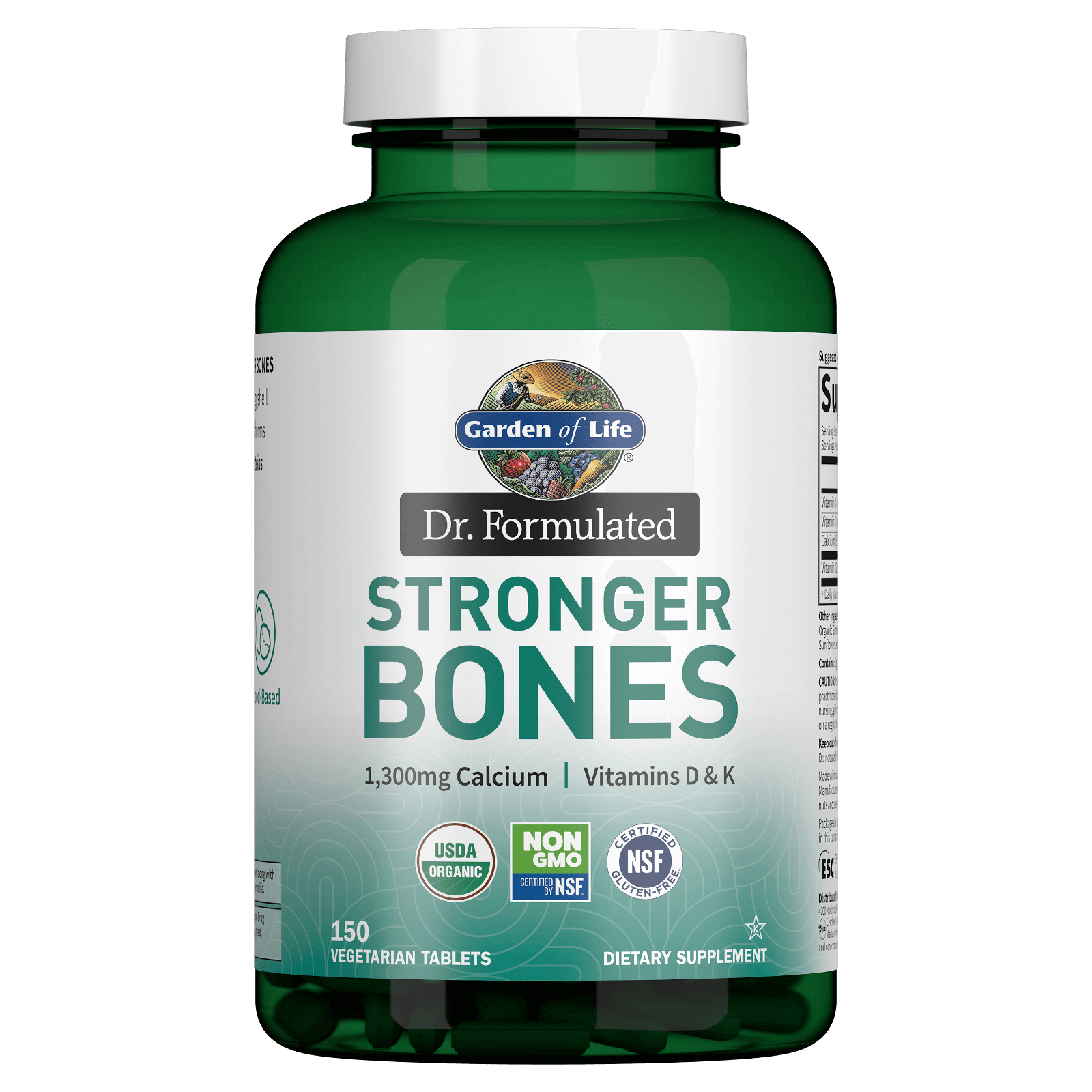 Garden of Life Organic Stronger Bones - 150 Tablets