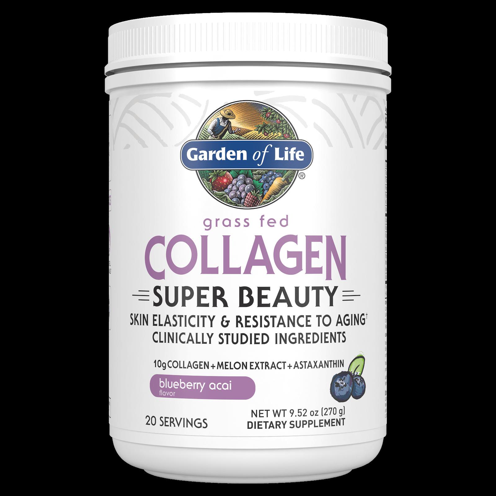 Garden of Life Collagen Super Beauty - Blueberry Acai - 270g