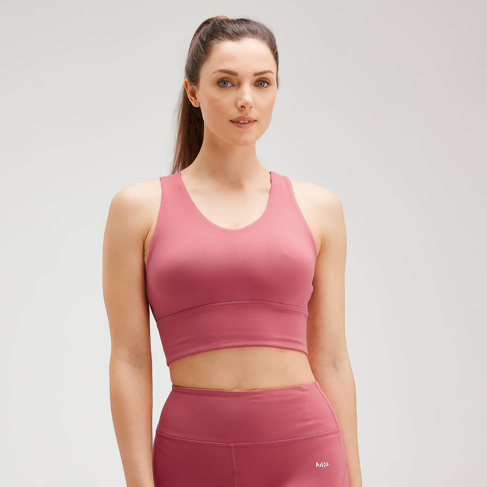 Купить MP Women's Power Longline Sports Bra - Berry Pink - XXS, Myprotein International