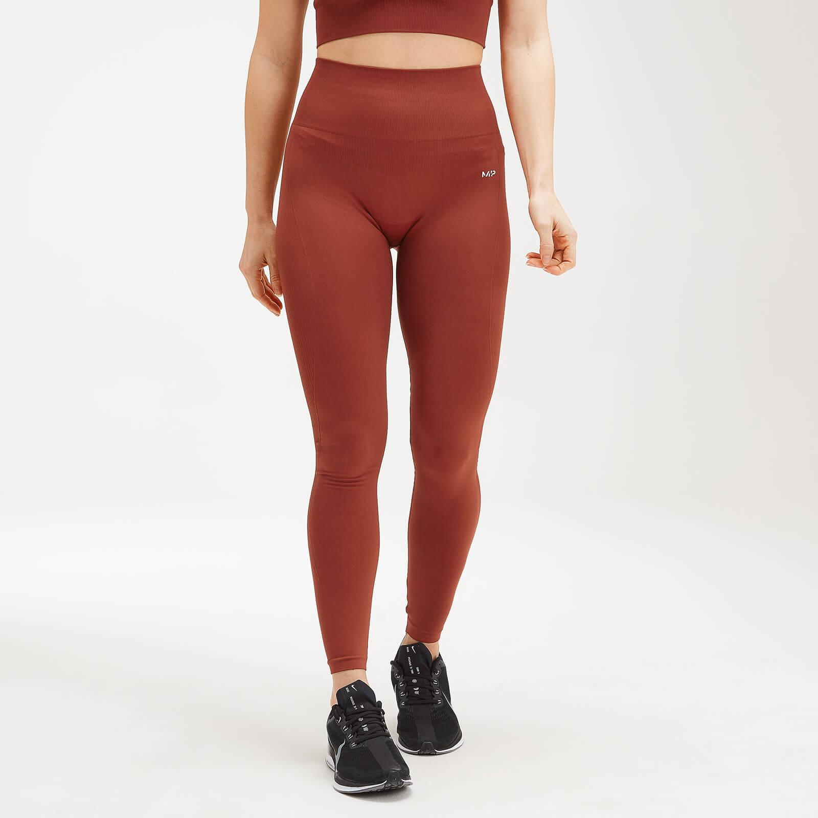 MP Women's Shape Seamless Ultra Leggings - Burnt Red - XXS
