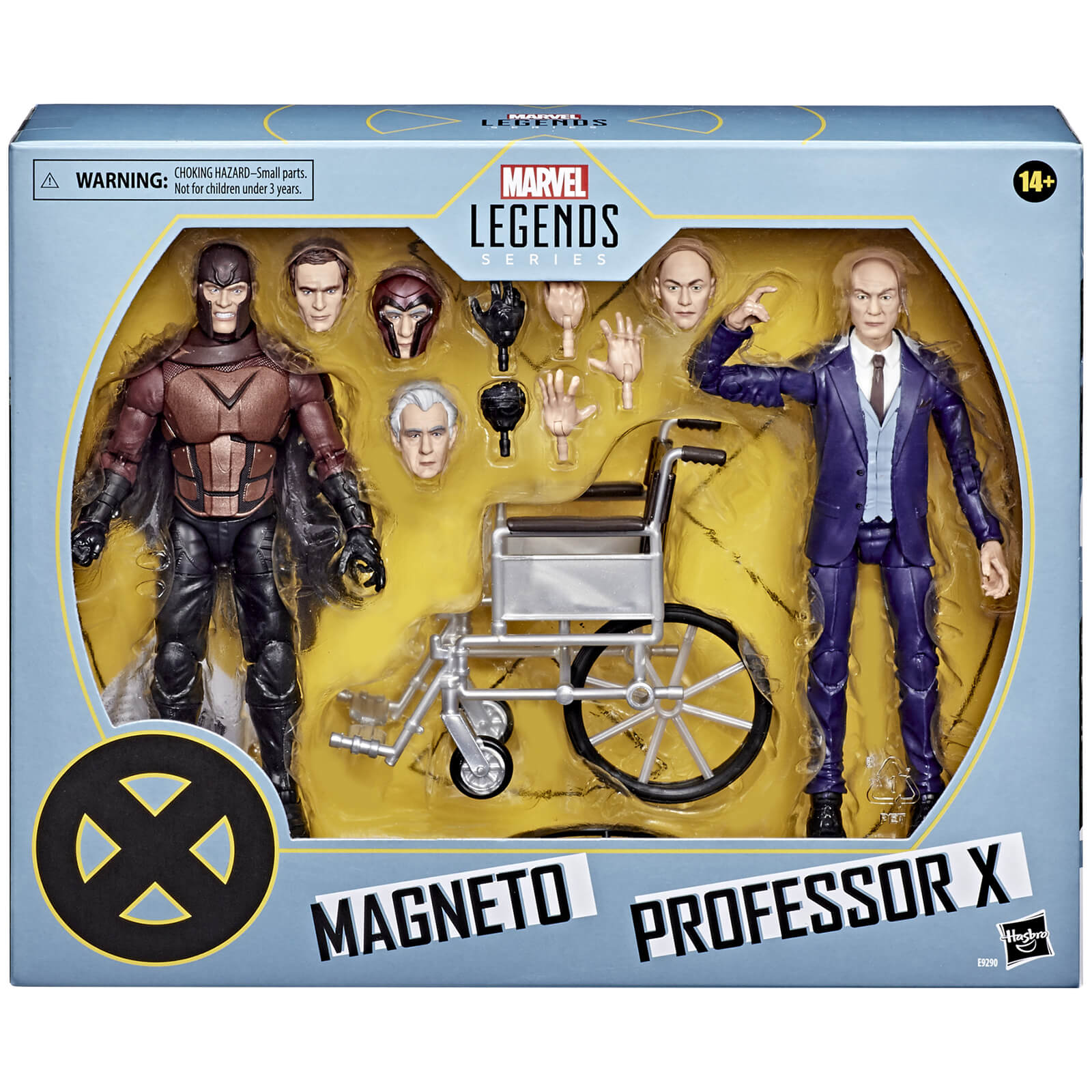 Image of Hasbro Marvel Legends X-Men Magneto and Professor X Action Figure Set