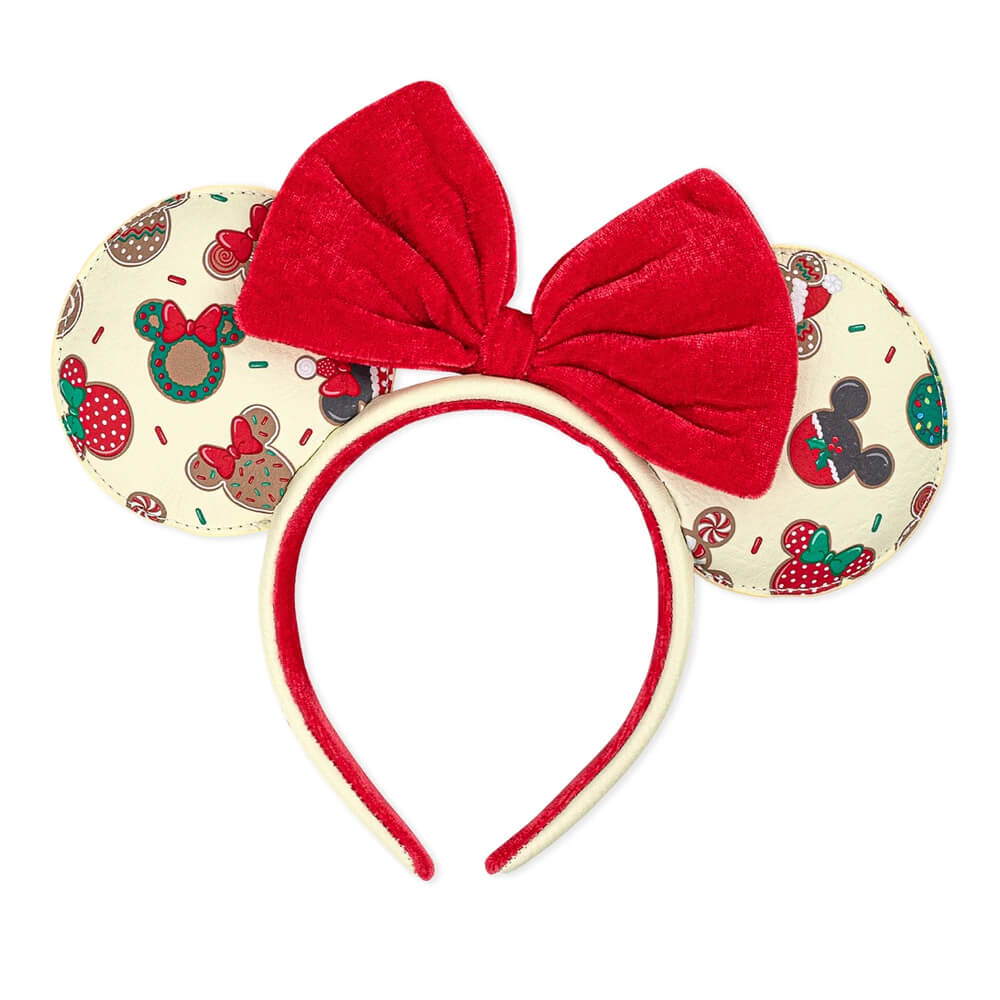 Image of Loungefly Disney Mickey & Minnie Christmas Cookies Headband