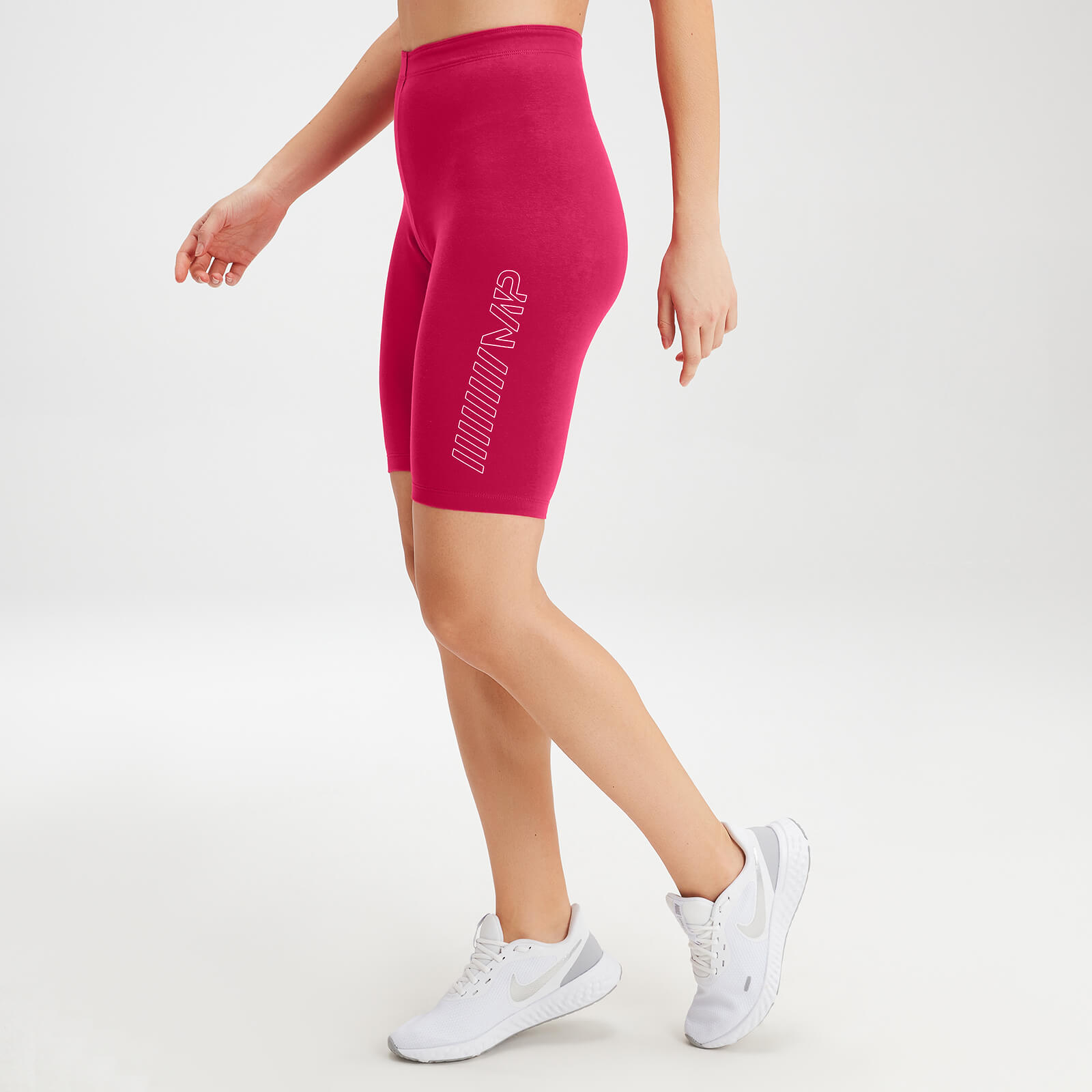 MP Women's Outline Graphic Cycling Shorts - Virtual Pink - L