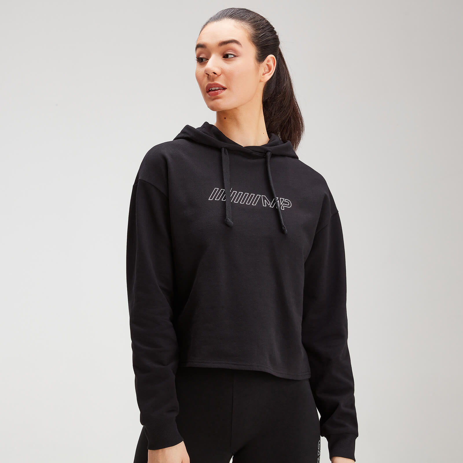 MP Women's Outline Graphic Hoodie - Black - S
