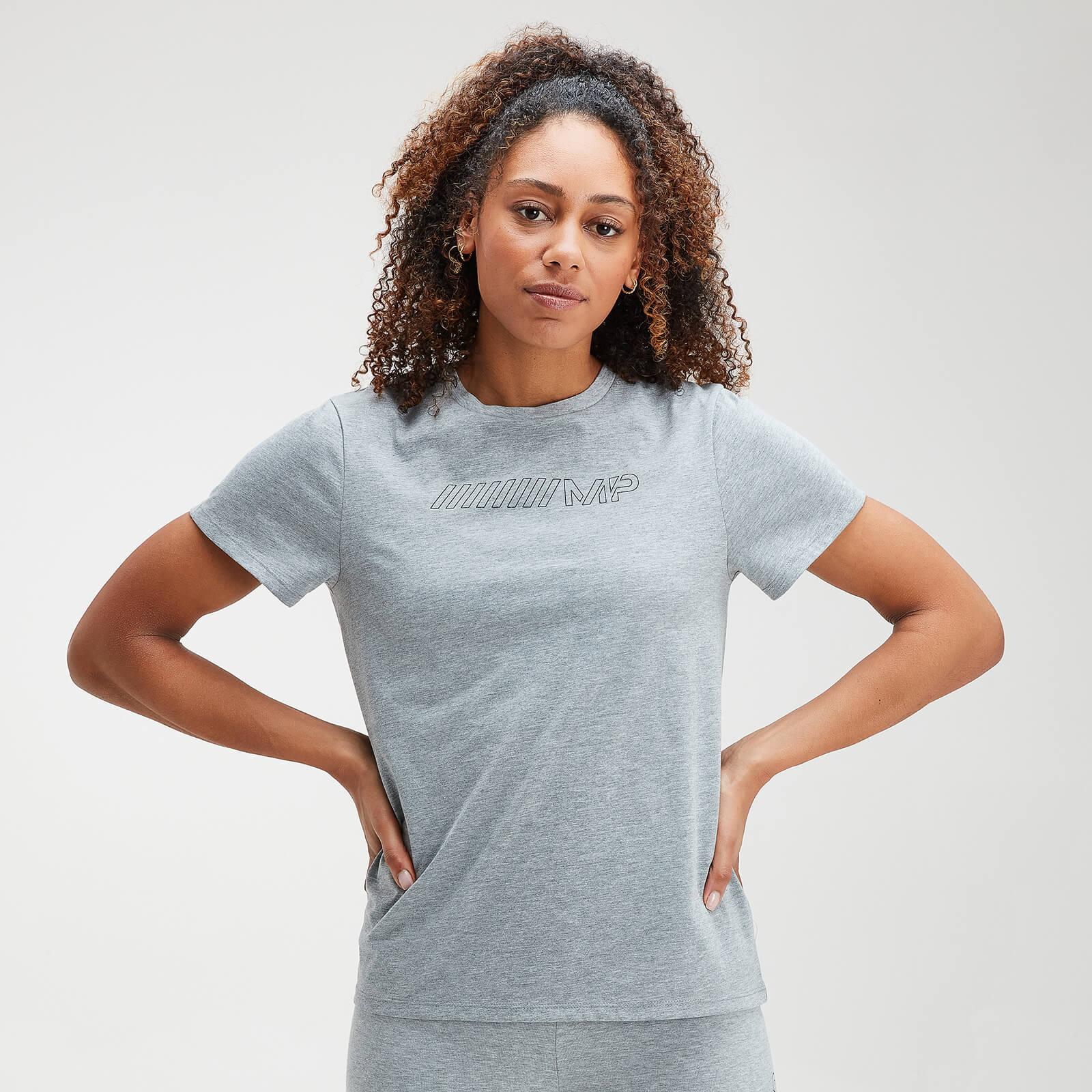 MP Women's Outline Graphic T-Shirt - Grey Marl - XXL