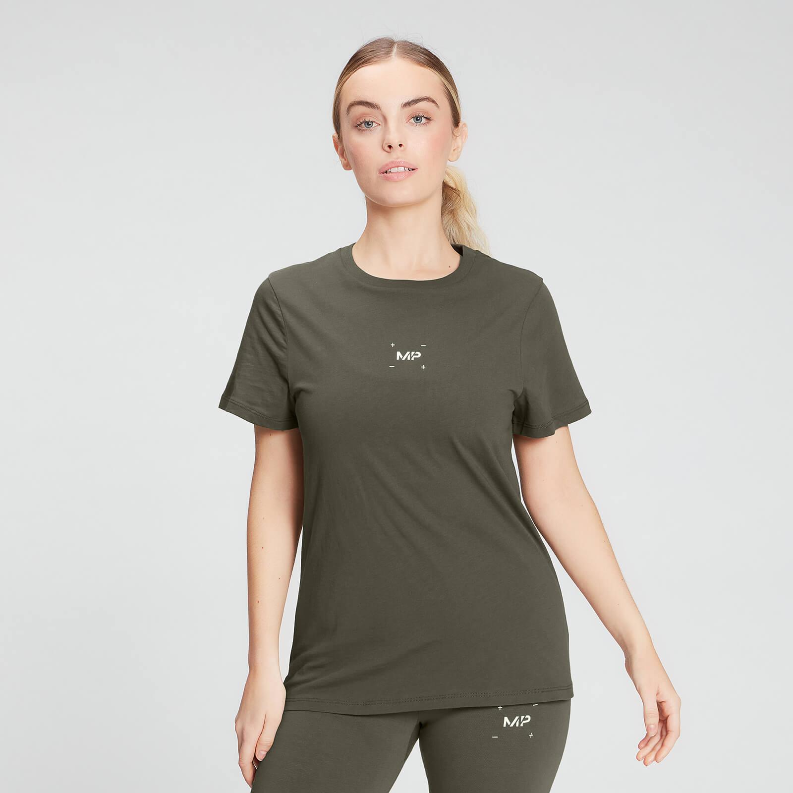 Купить MP Women's Central Graphic T-Shirt - Dark Olive - XS, Myprotein International