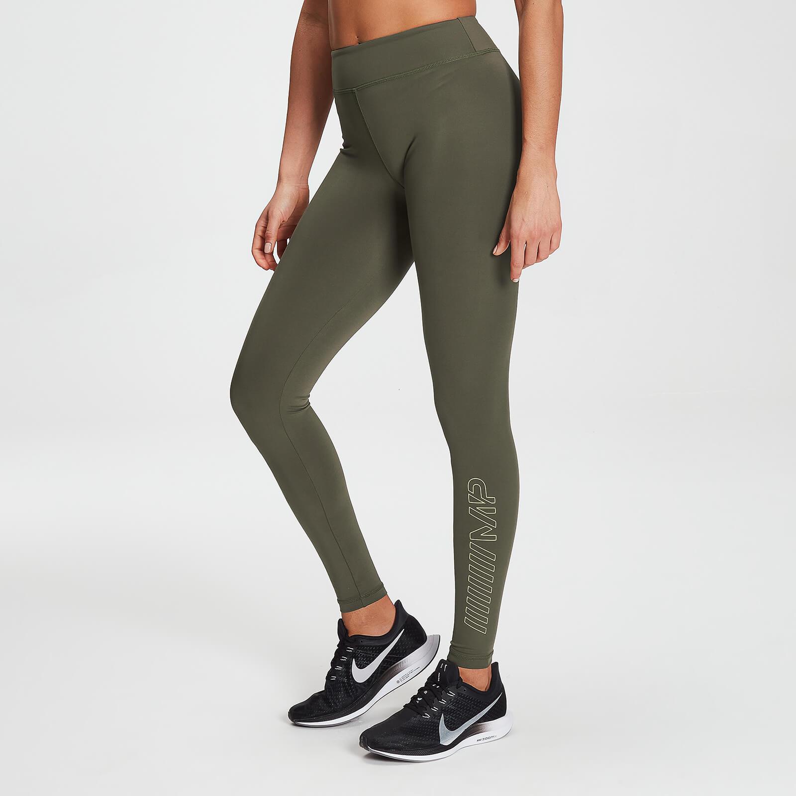 MP Branded Training Leggings für Damen – Dark Olive - XXS