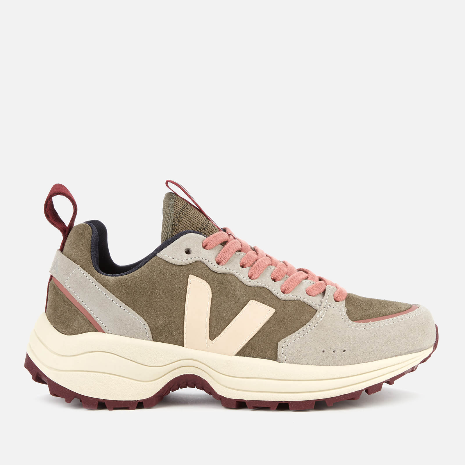 Veja Women's Venturi Suede Running Style Trainers - Khaki/Sable/Oxford Grey - UK 2