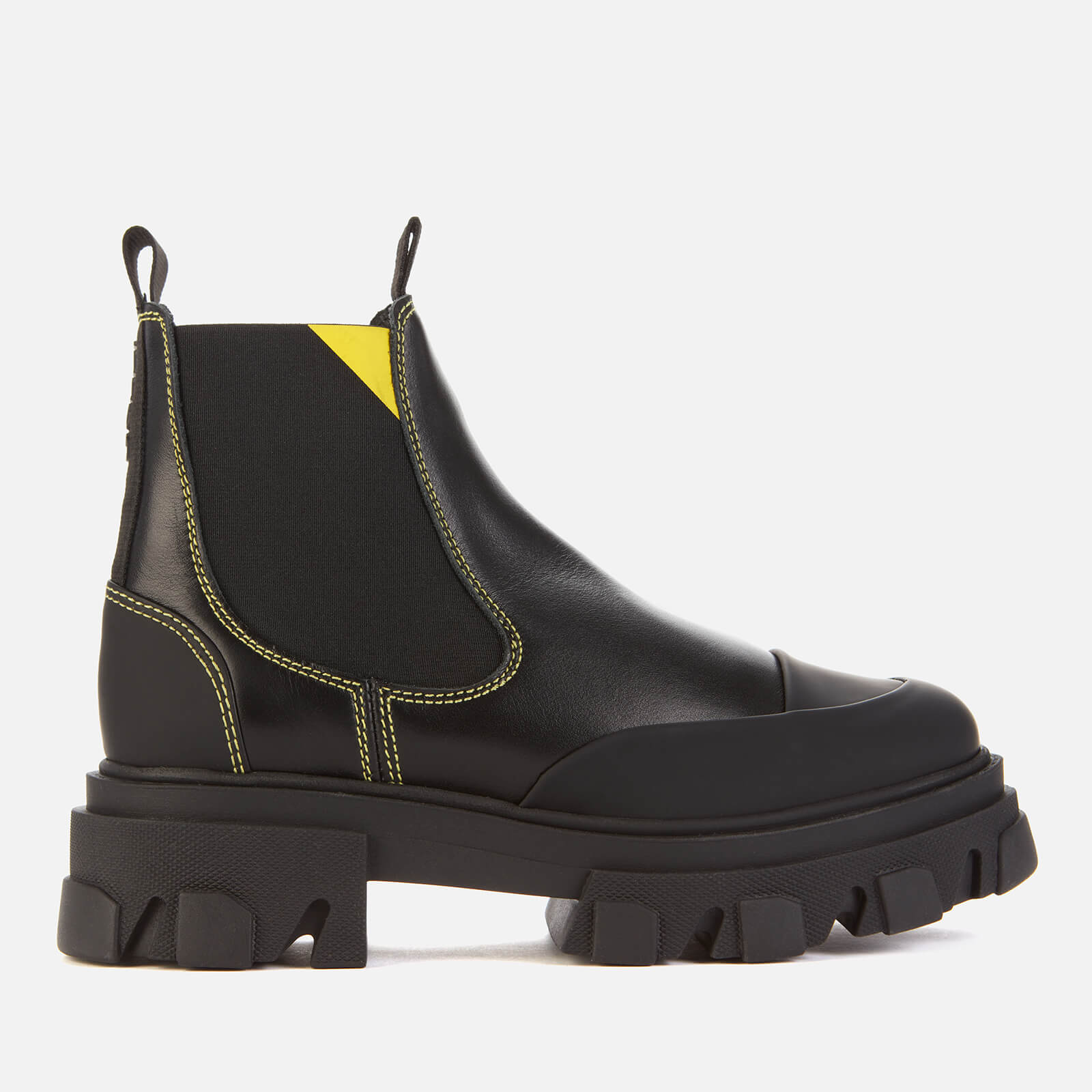Ganni Women's Leather Chelsea Boots - Black - Uk 3