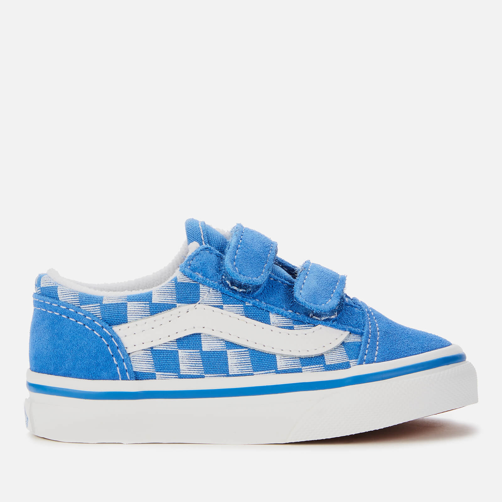 Click to view product details and reviews for Vans Toddlers Racers Edge Old Skool Velcro Trainers Blue True White Uk 3 Toddler.