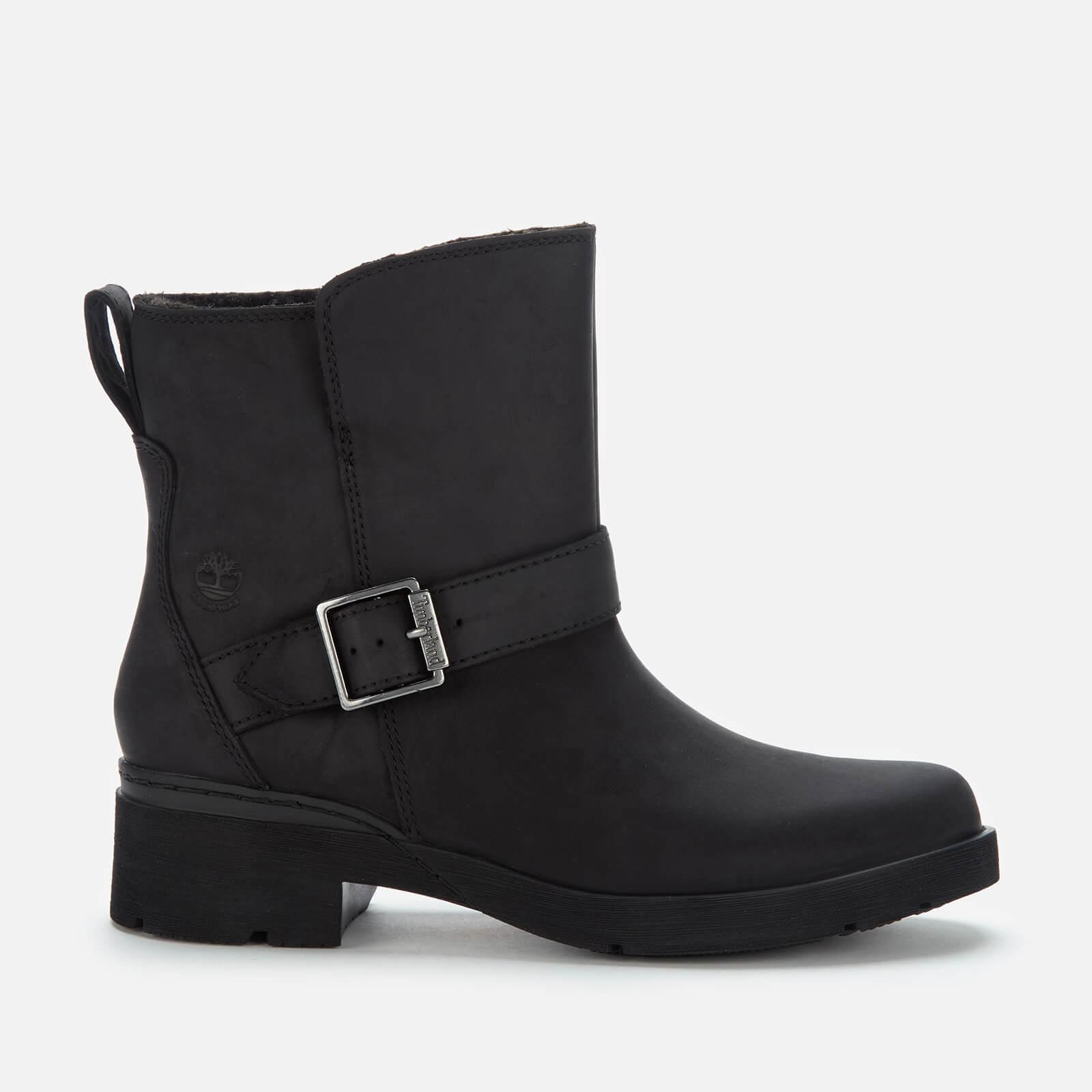 Timberland Women's Graceyn Waterproof Leather Biker Boots - Black - Uk 3