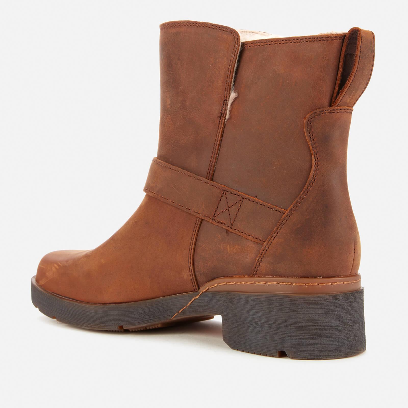 Timberland Women's Graceyn Waterproof Leather Biker Boots - Rust - Uk 3