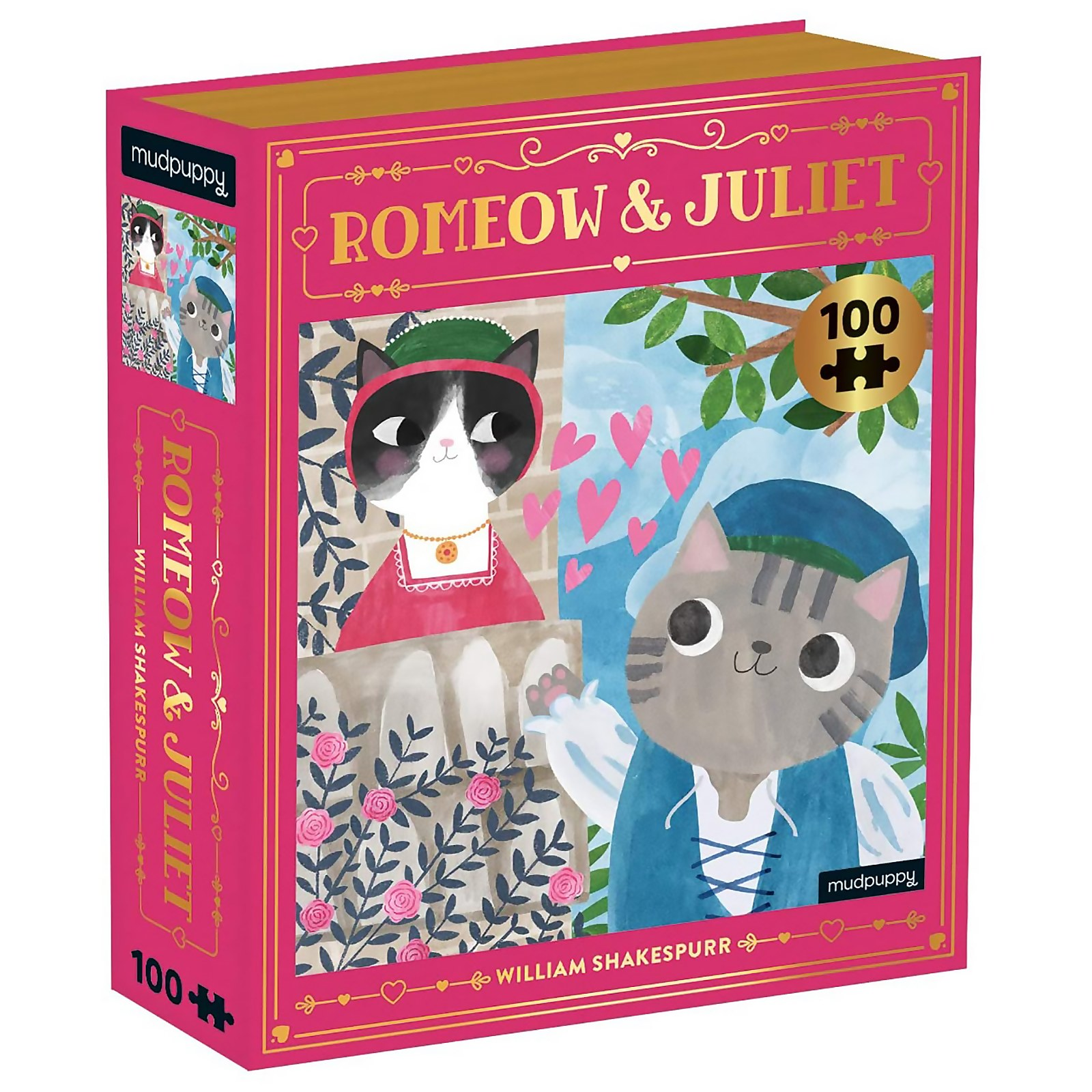 Image of Romeow & Juliet Bookish Cats Puzzle (100 Pieces)