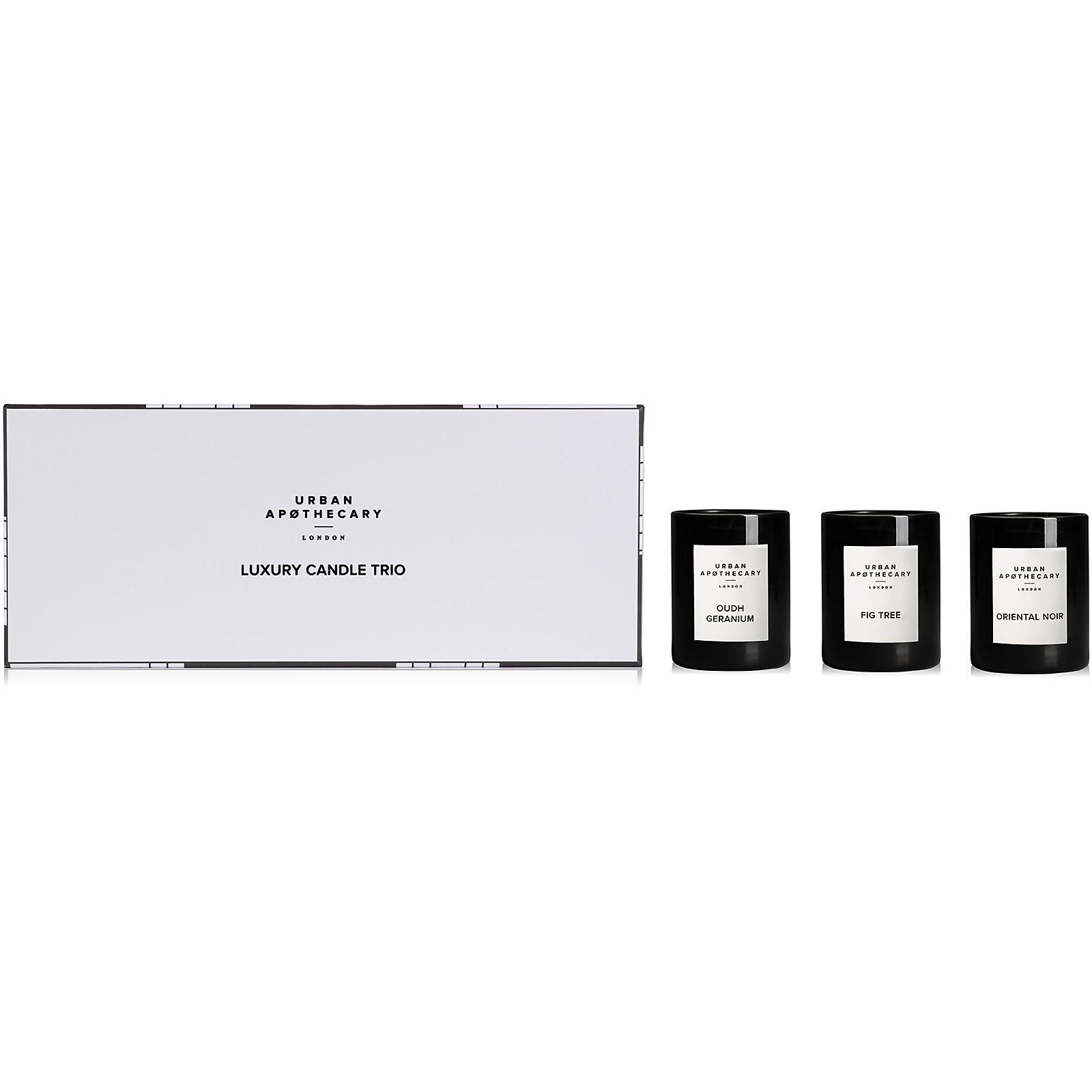 Urban Apothecary Luxury Candle Trio Gift Set - Oudh Geranium - 70g