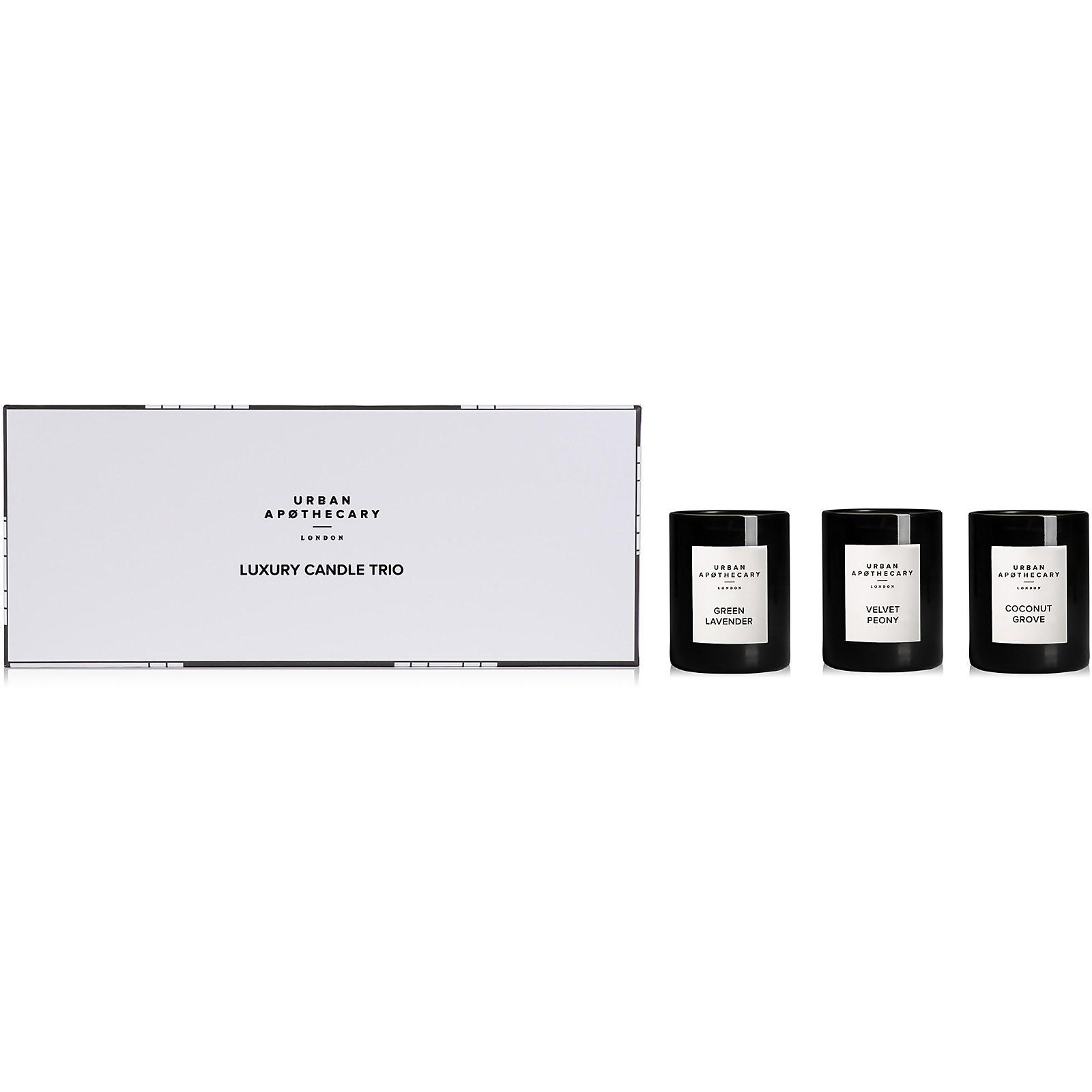 Urban Apothecary Luxury Candle Trio Gift Set - Green Lavender - 70g
