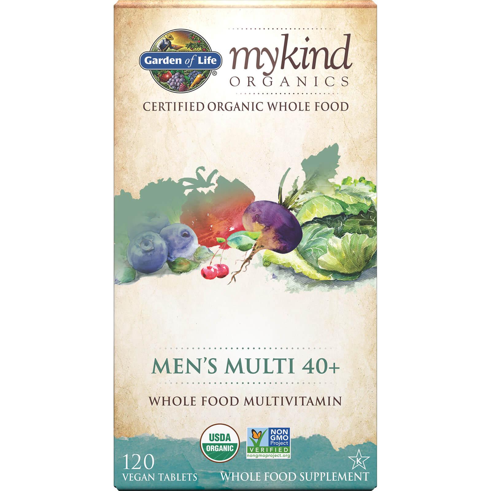 mykind Organics Multivitaminen Mannen 40+ - 120 tabletten