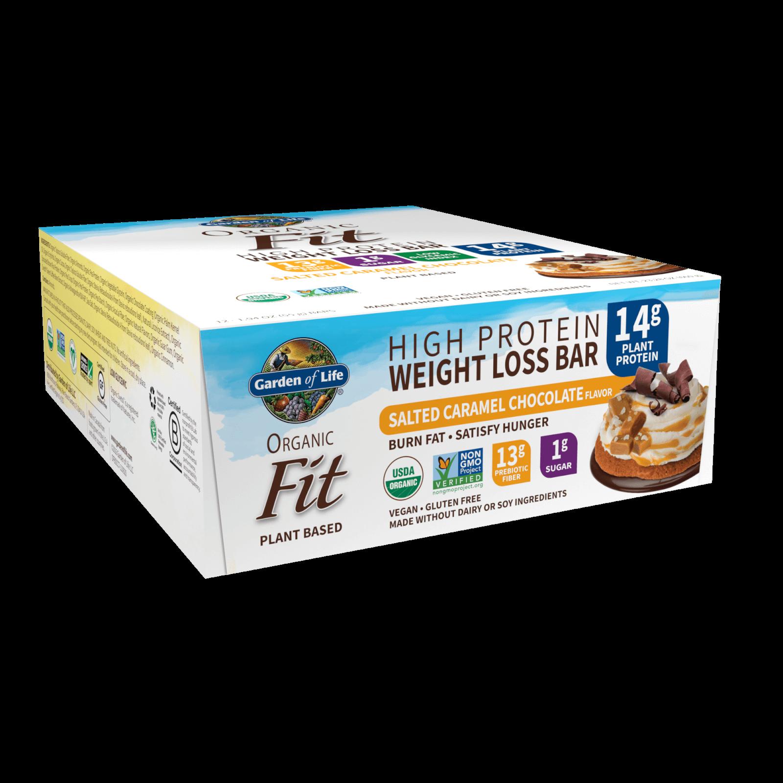 Organic Fit Plant - Based Bar - Sea Salt Caramel Chocolate - 12 Bars